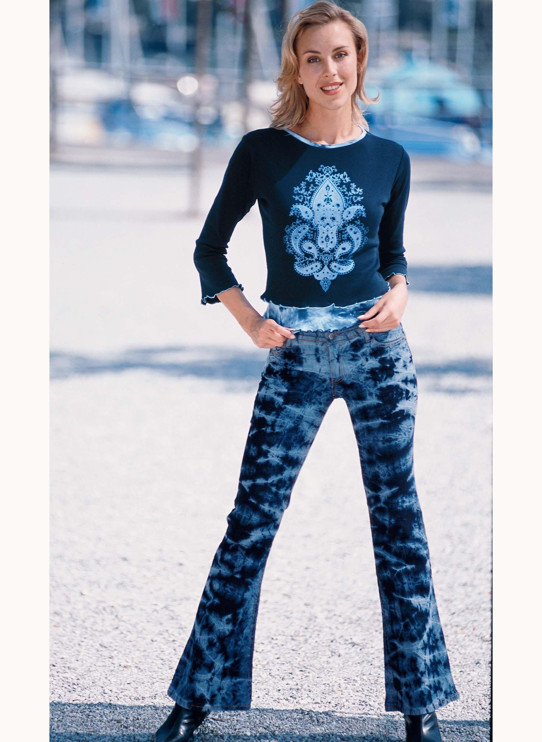 Jeans, Batik Blue-Denim - Jeans / Casual - Damenmode