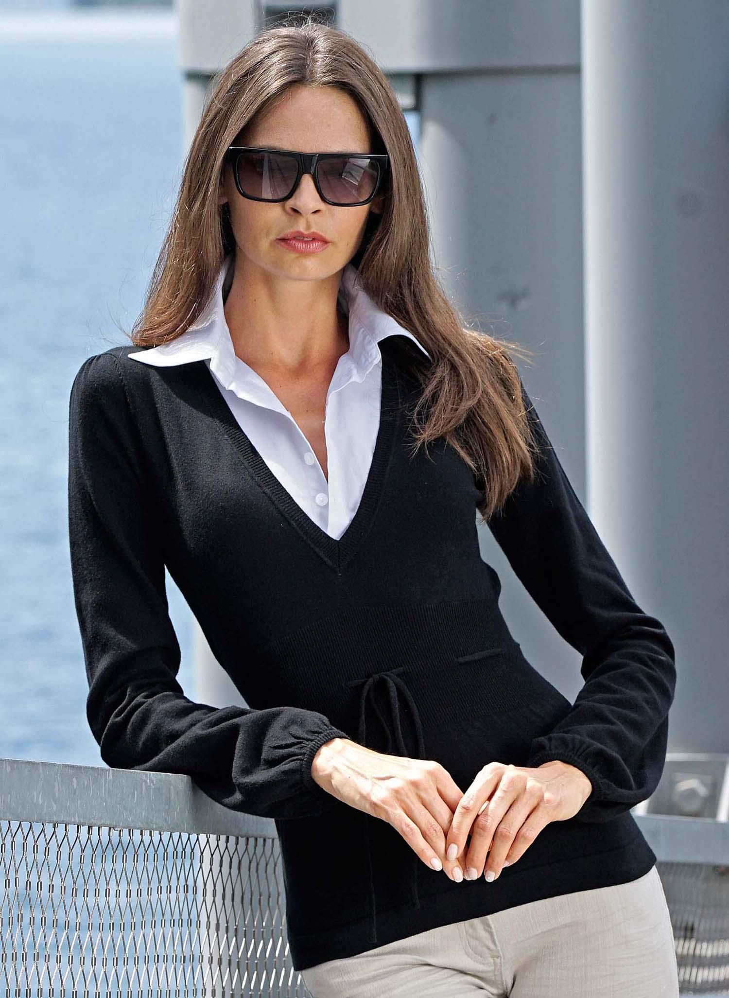 8263833c067057 D-Pullover-Bluse,schwarz L 010 - 1 - Ronja.ch
