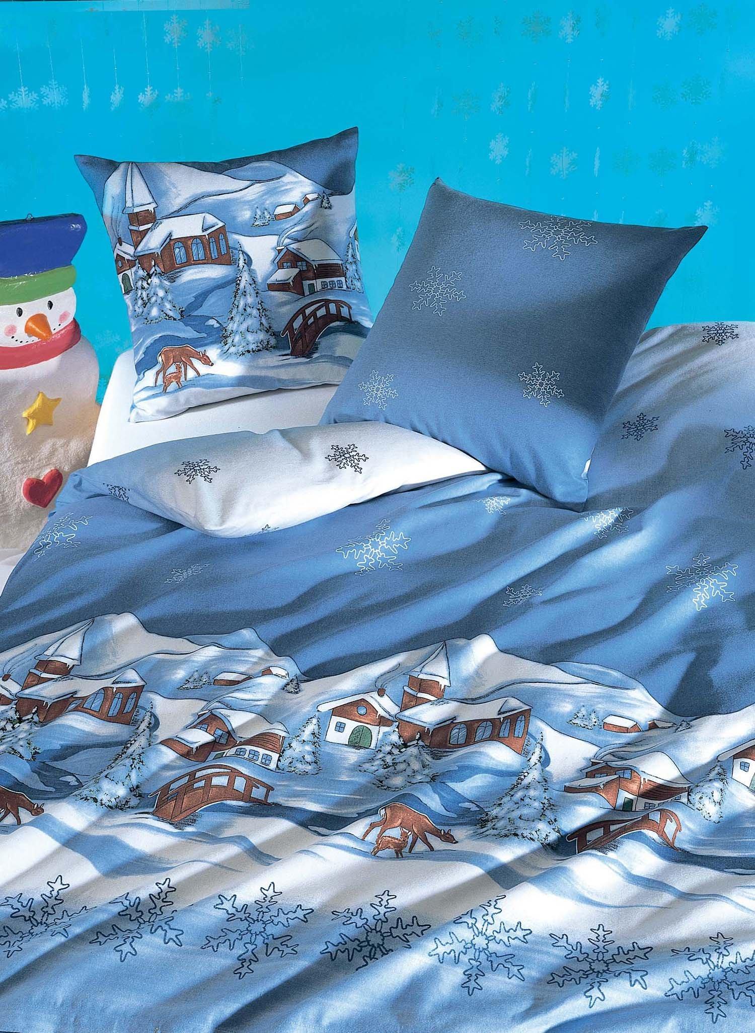 kinder flanell bettw sche winterlandschaft. Black Bedroom Furniture Sets. Home Design Ideas