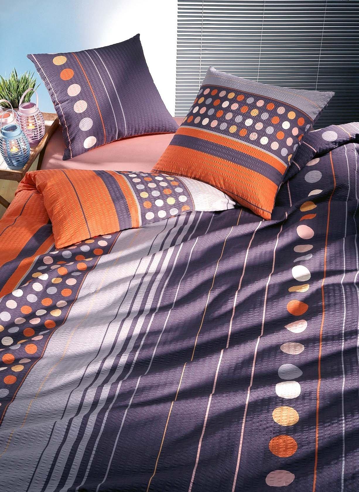 seersucker bettw sche dotsi. Black Bedroom Furniture Sets. Home Design Ideas