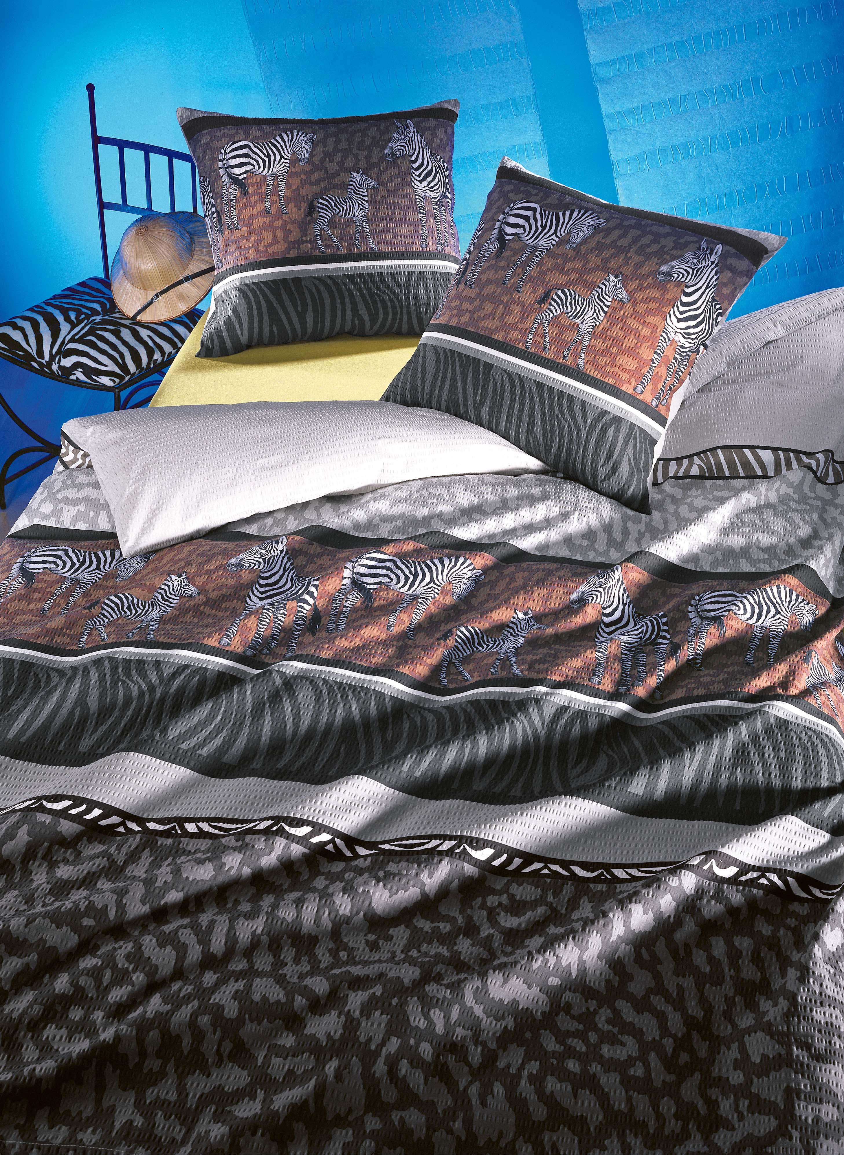 seersucker bettw sche zebra. Black Bedroom Furniture Sets. Home Design Ideas