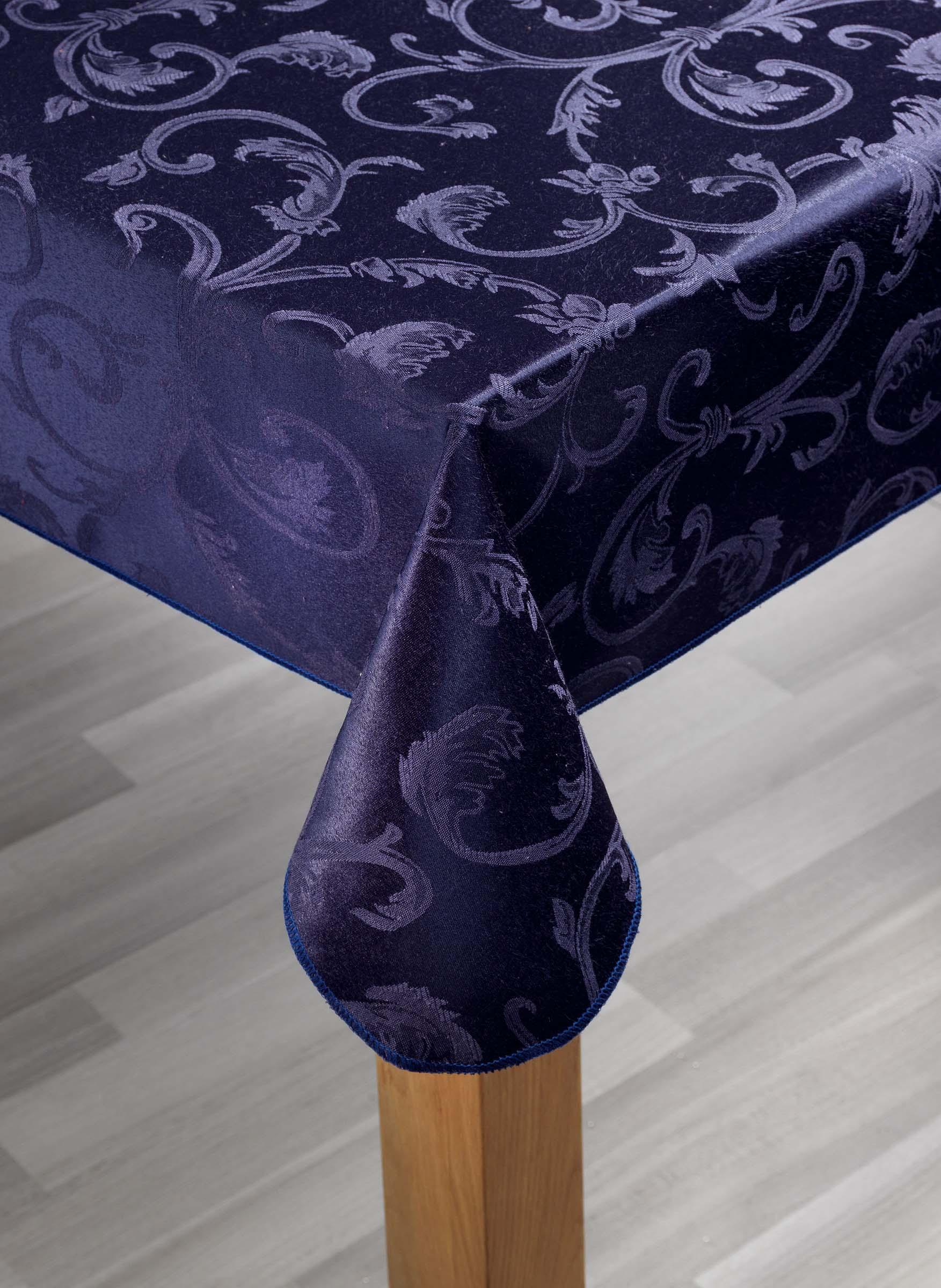 satin tischdecke jacquard floralmuster. Black Bedroom Furniture Sets. Home Design Ideas