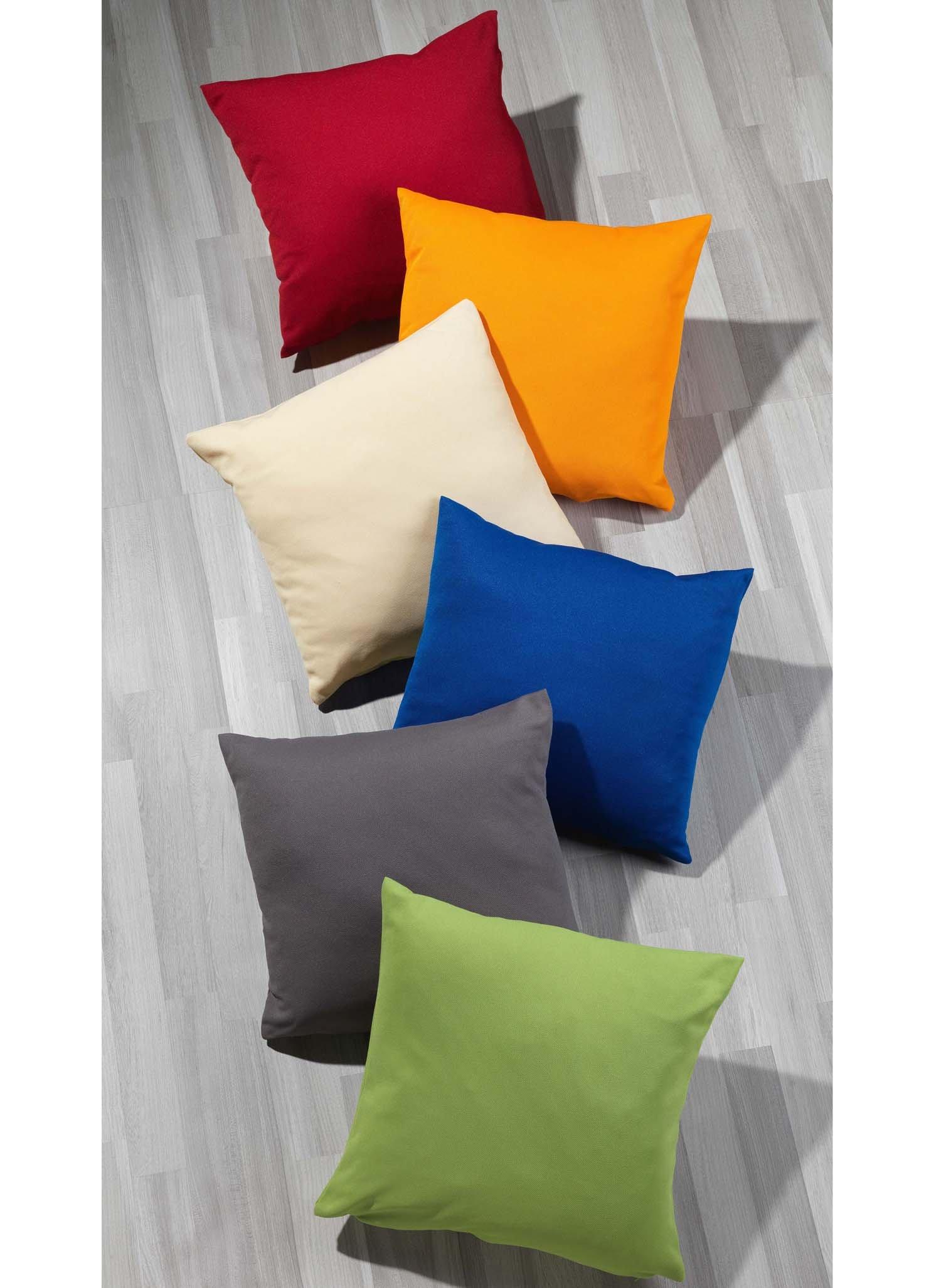 zierkissen unifarbig reissverschluss. Black Bedroom Furniture Sets. Home Design Ideas