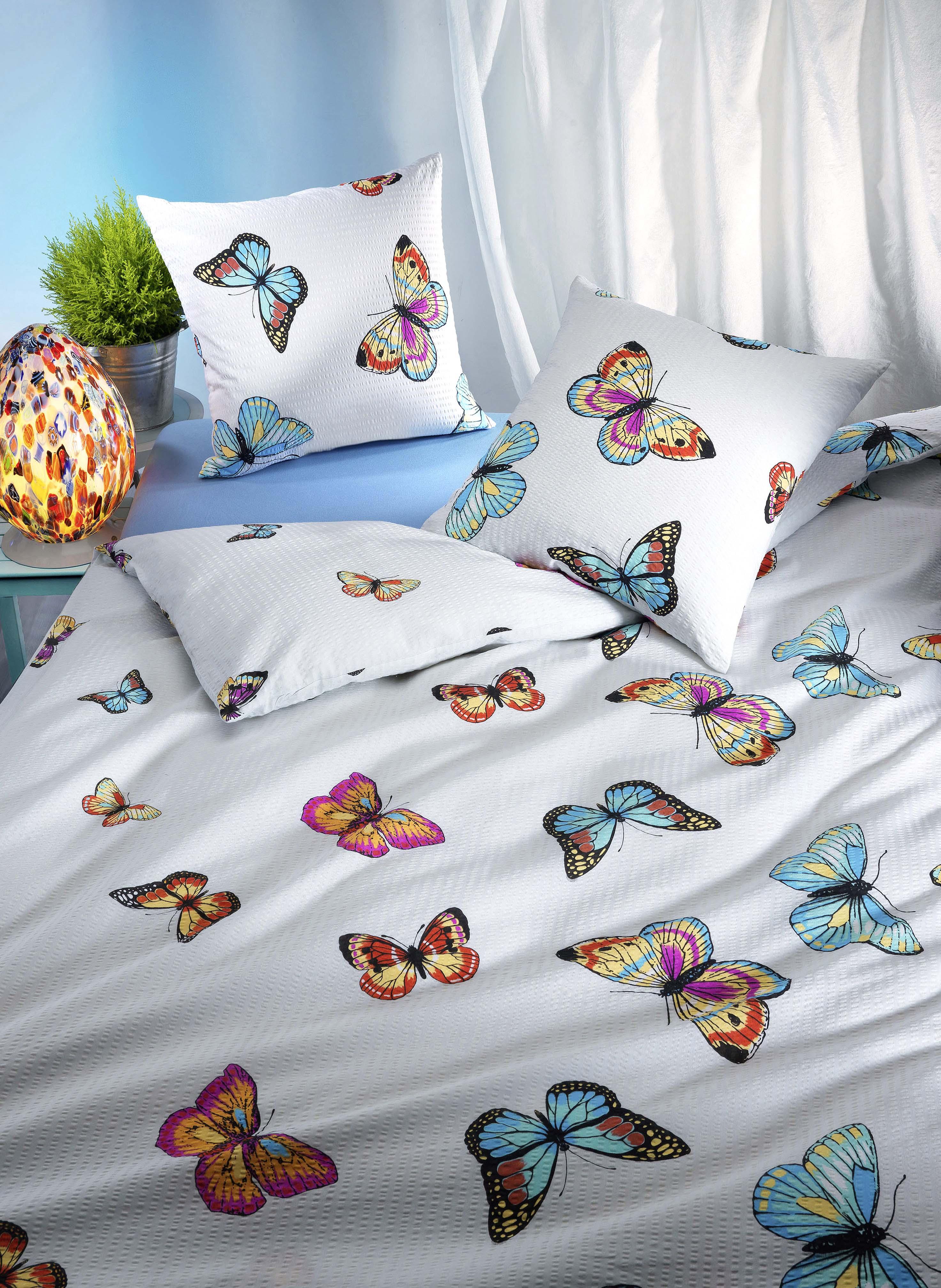 Seersucker Bettwäsche Schmetterling