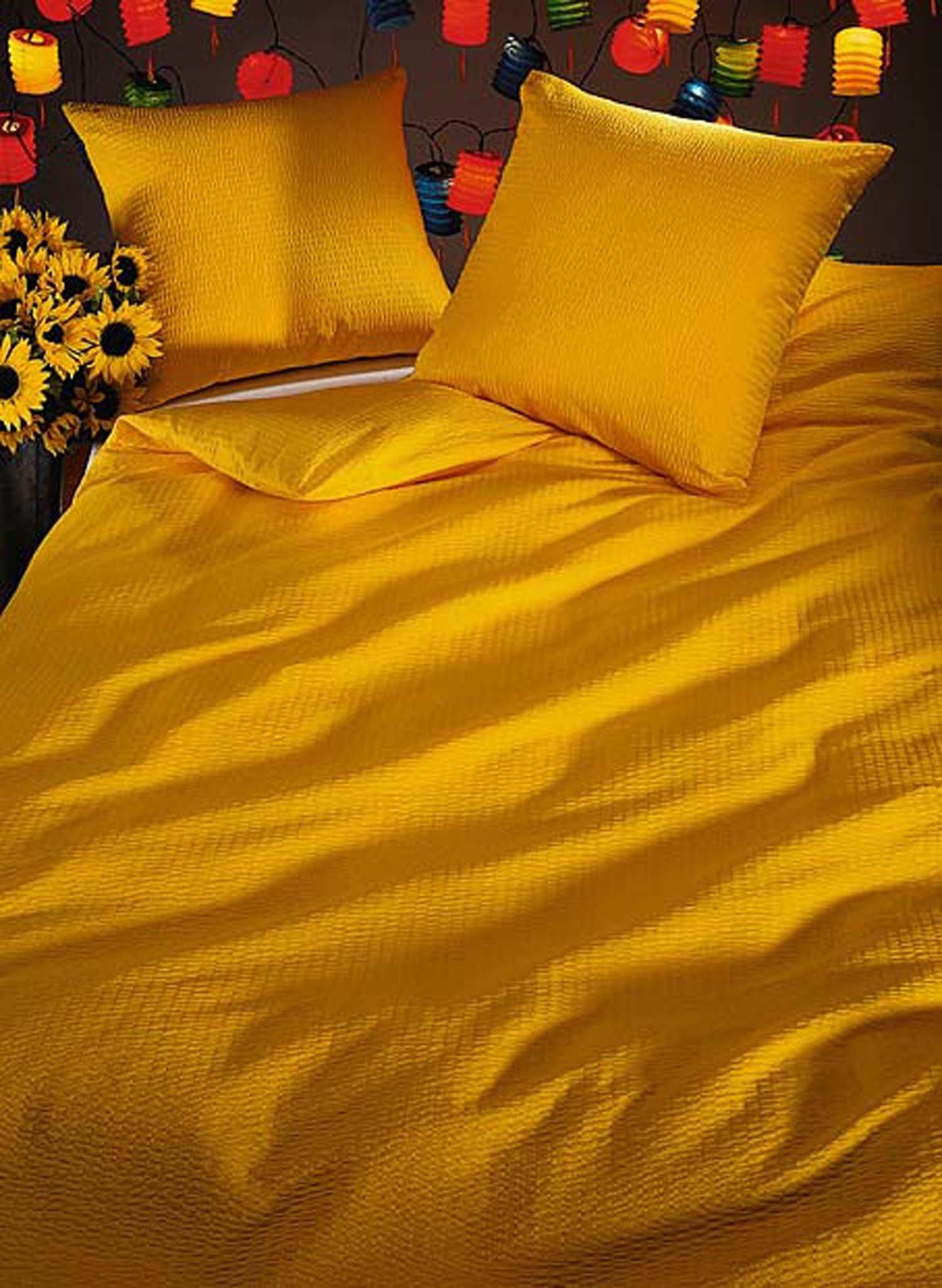 Garn.FS Seersucker gelb 2x65x65+200x210cm - 6 - Ronja.ch