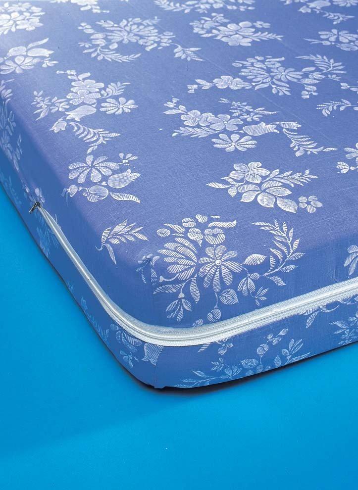 Matratzen-Schoner, blau mit Reissverschluss