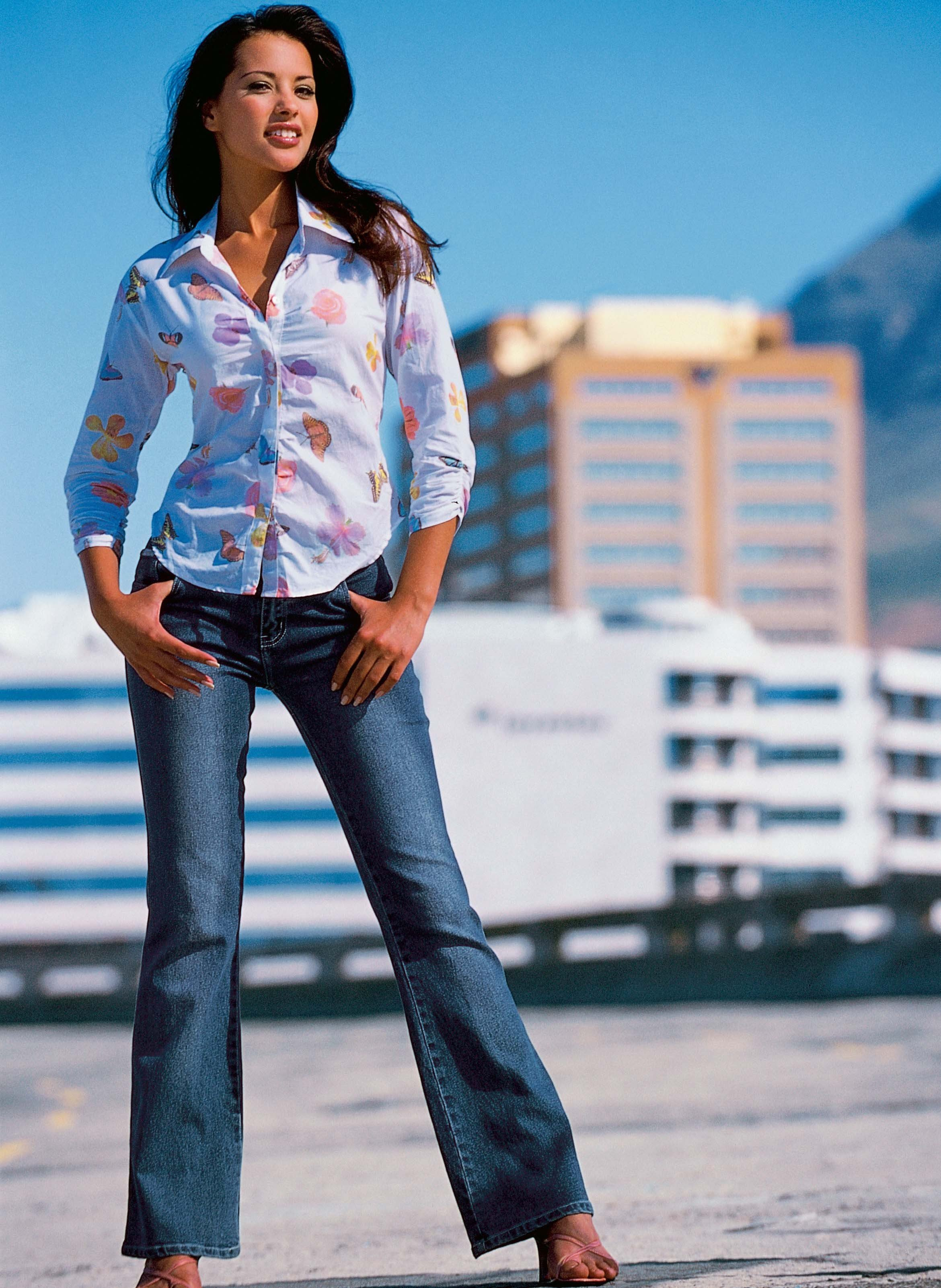 Stretch-Jeans  Blue-Denim