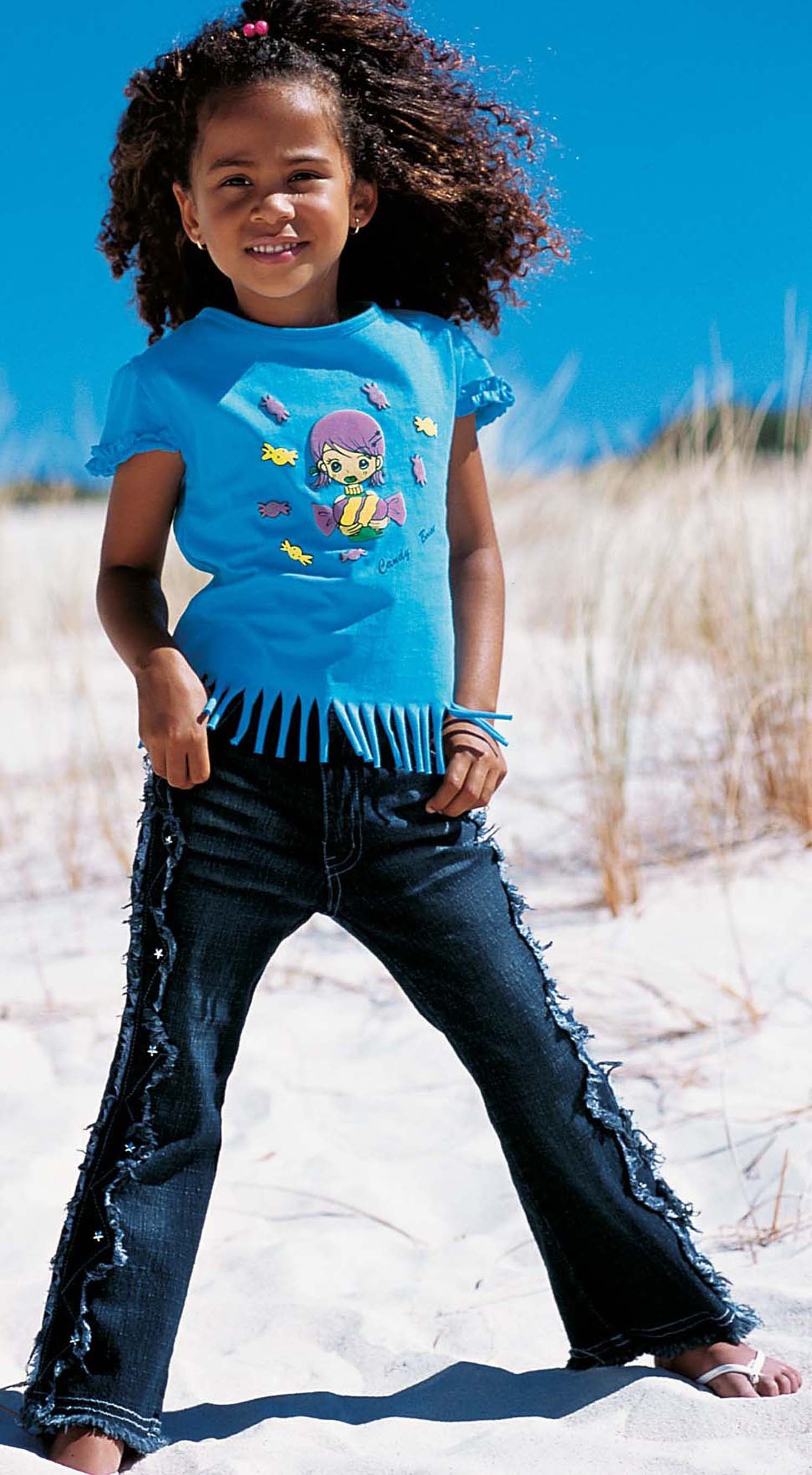 MD-Shirt Fransenabschlus.blau 104 047 - 1 - Ronja.ch