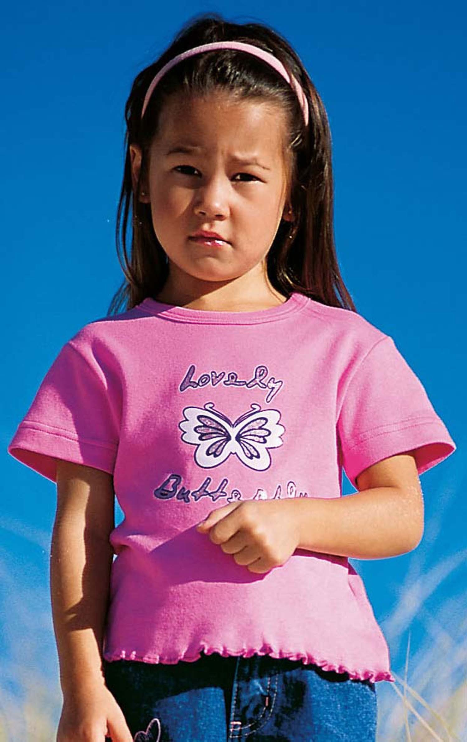 MD-T-Shirt Schmetterling rosa 98 020 - 1 - Ronja.ch
