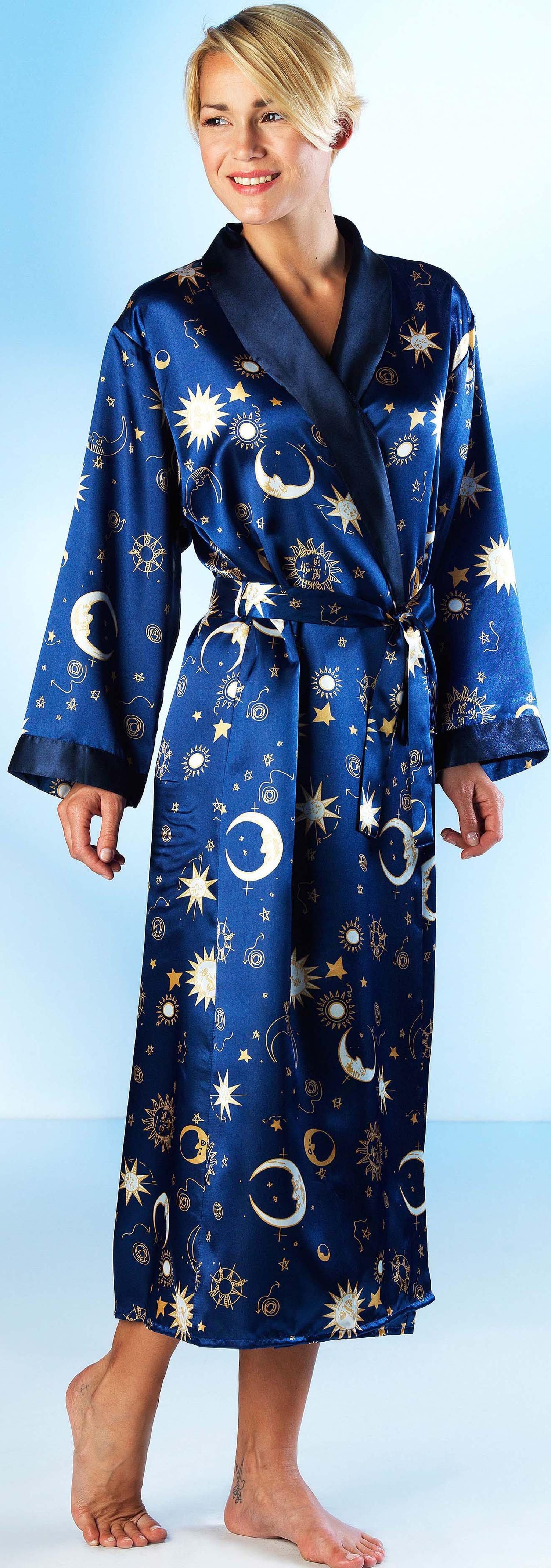 D-Kimono Satin blau L/XL - 1 - Ronja.ch