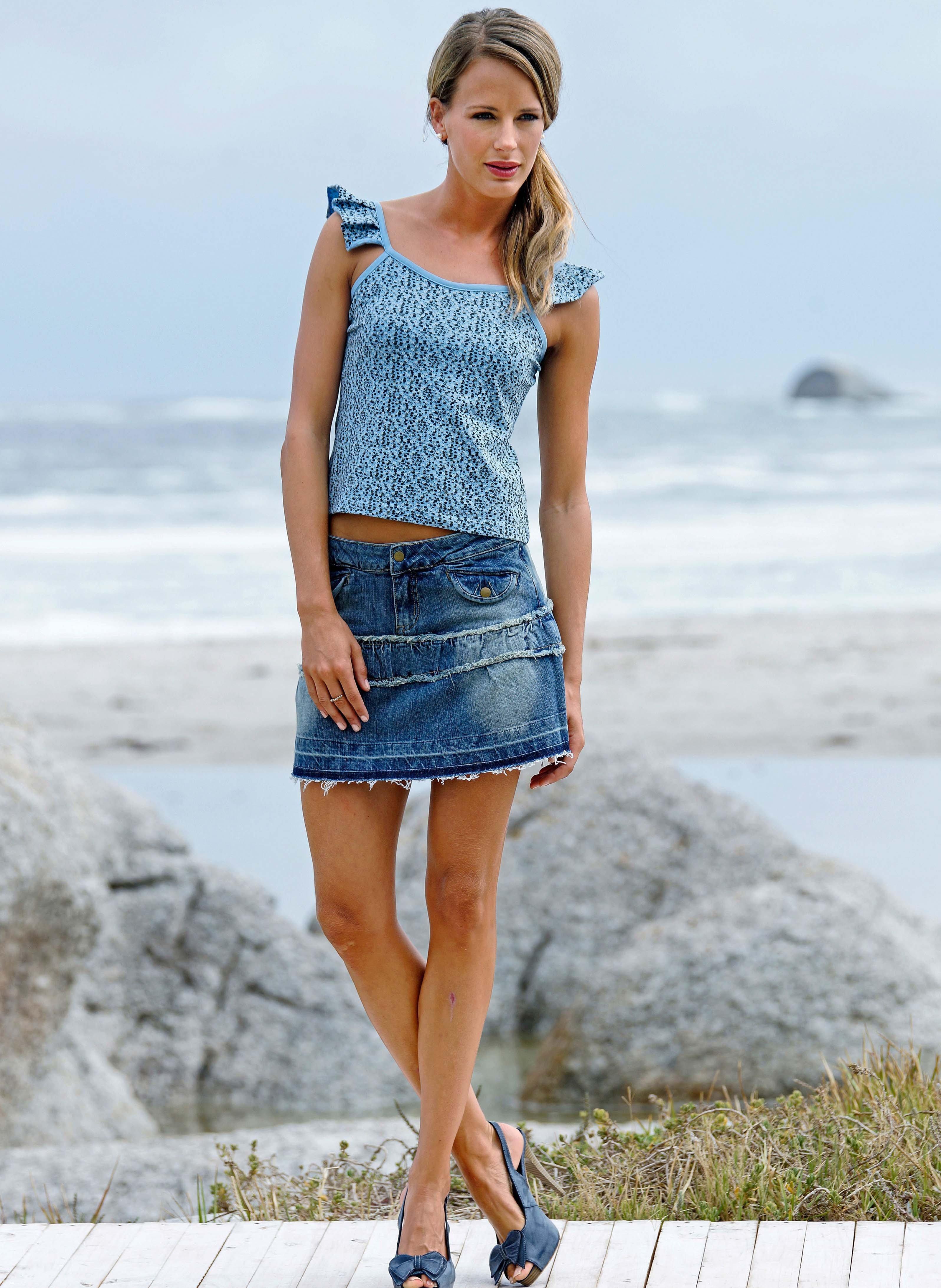 Jeans-Minijupe