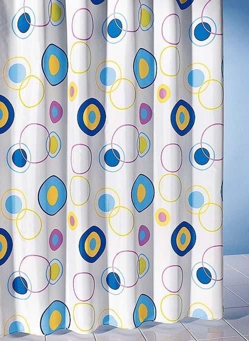 Textil-Duschvorhang Ringmuster