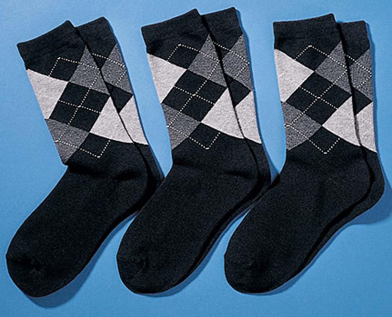H-Oxford-Socken 3er-S.schw/gr. 3942 174