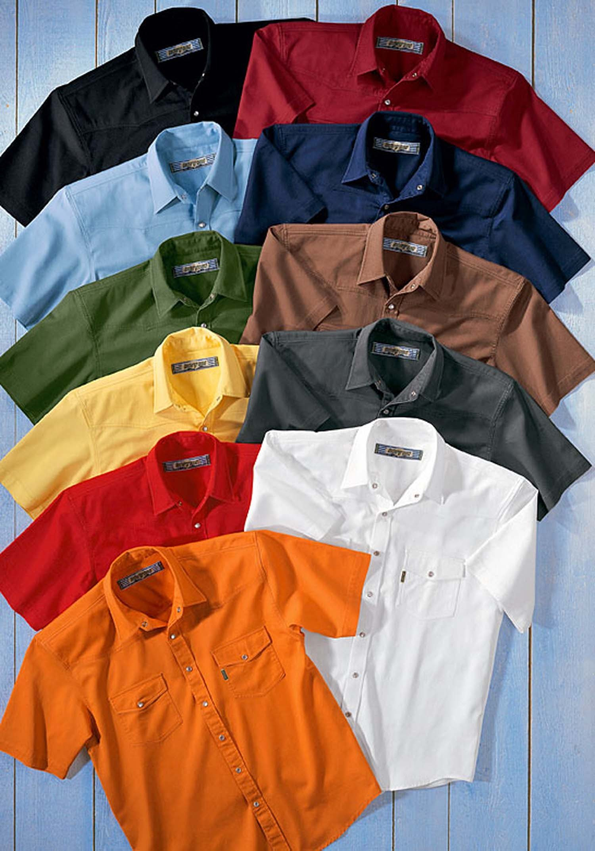 U-KA-Colors-Jeans Hemd,schwarz L 010