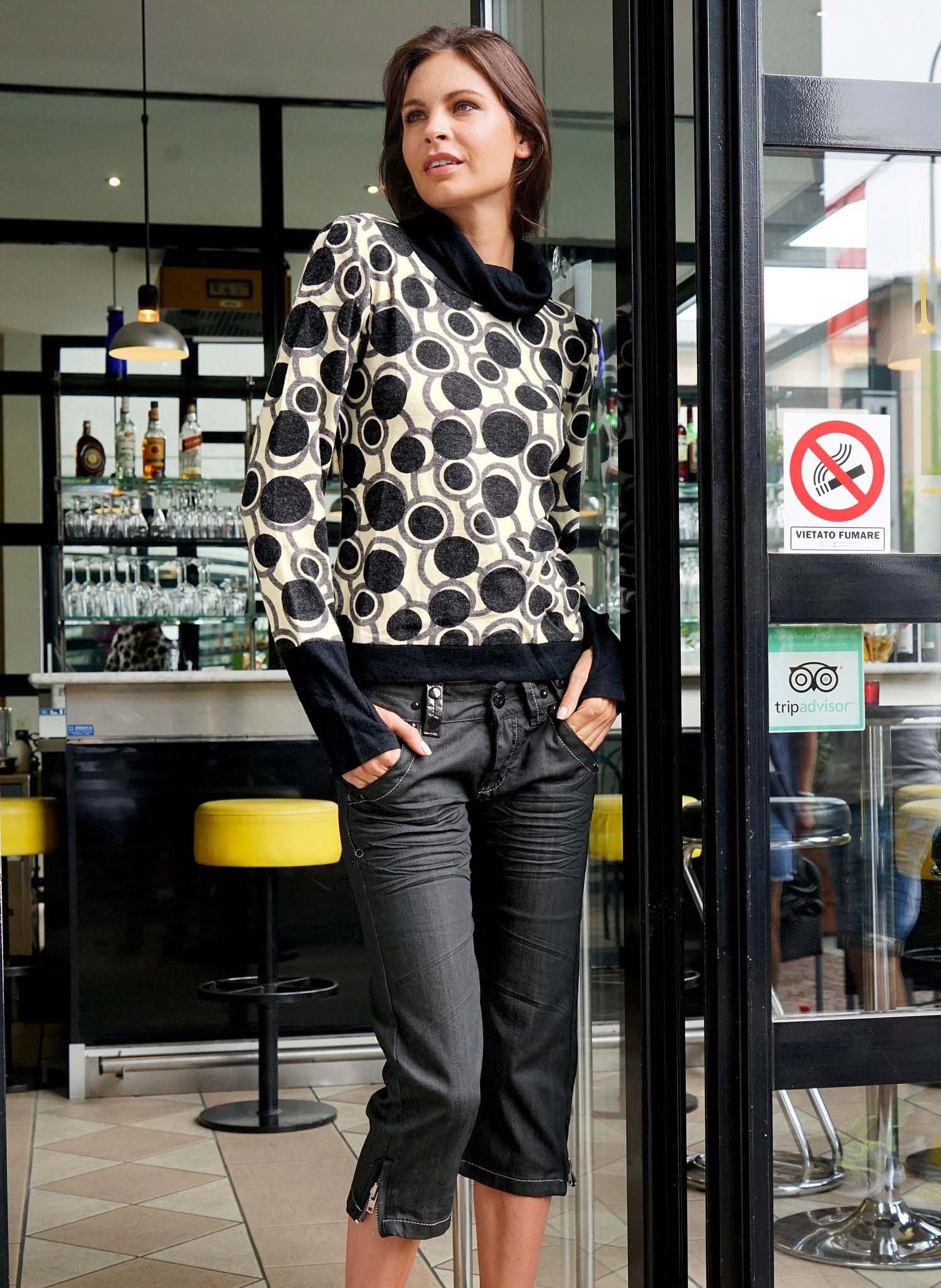 D-Capri-Jeans,Sitzfalt.Black-D 34 012