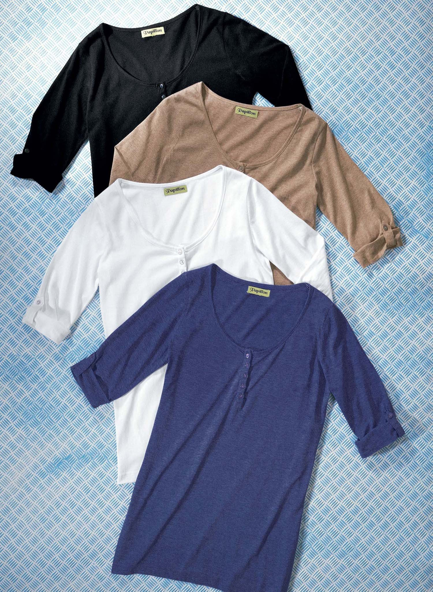 D-Long-Shirt,Lasche schwarz L 010 - 1 - Ronja.ch