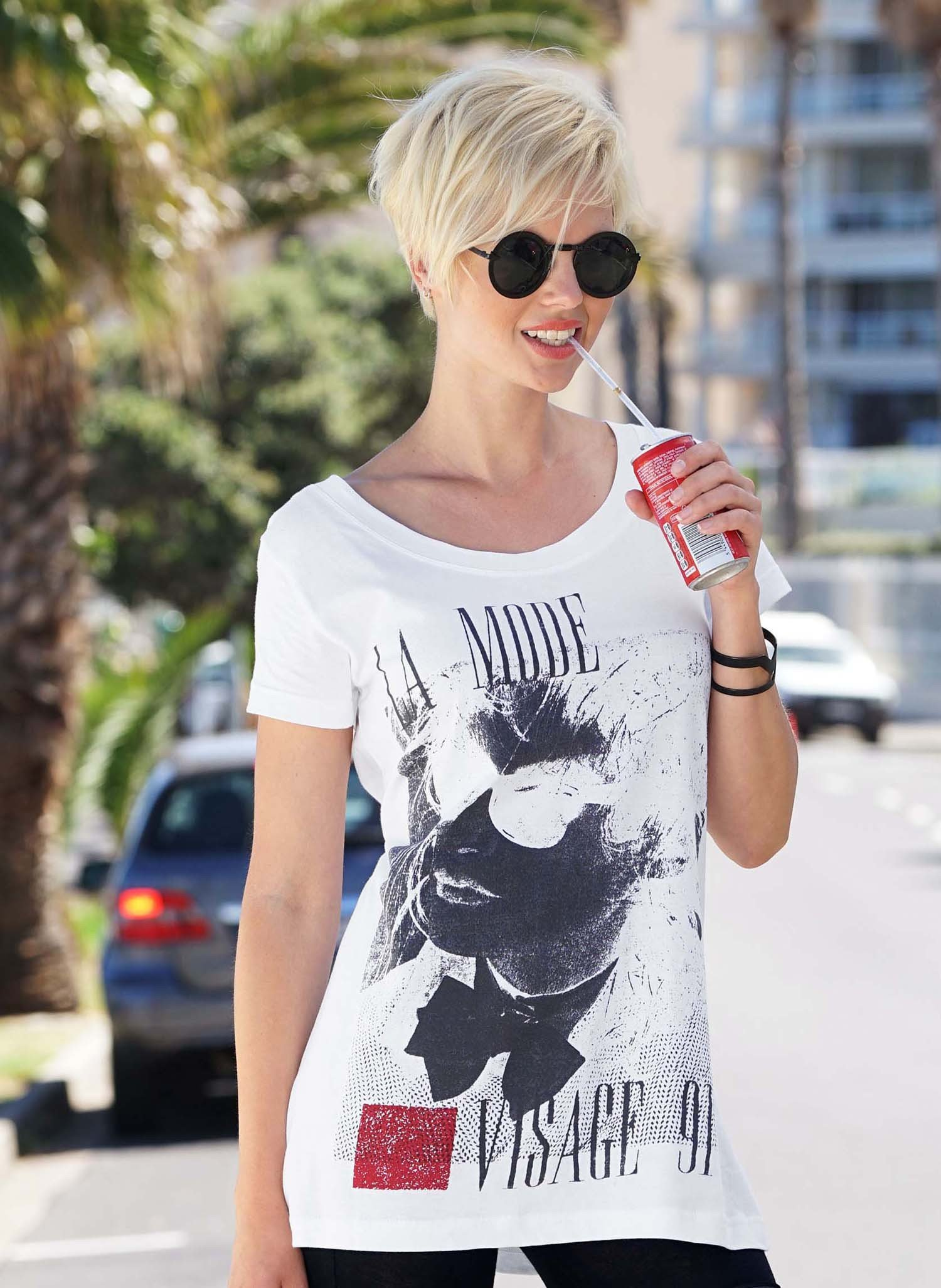 """D-KA-Shirt,""""LA MODE"""" weiss L - 1 - Ronja.ch"""