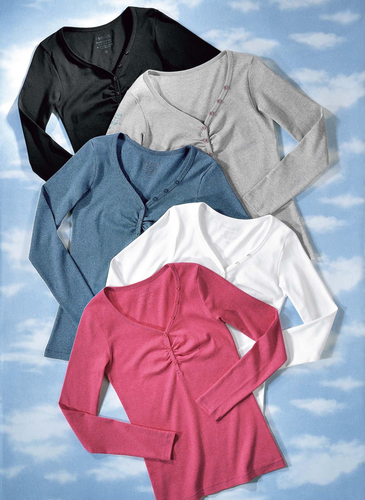 D-LA-Shirt,V-Auss.grau mel. L 004 - 2 - Ronja.ch