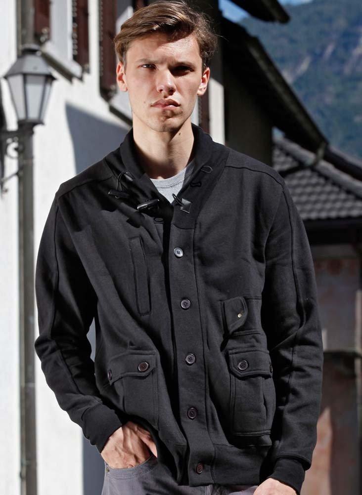 H-Jacke,Schalkragen schwarz L 010