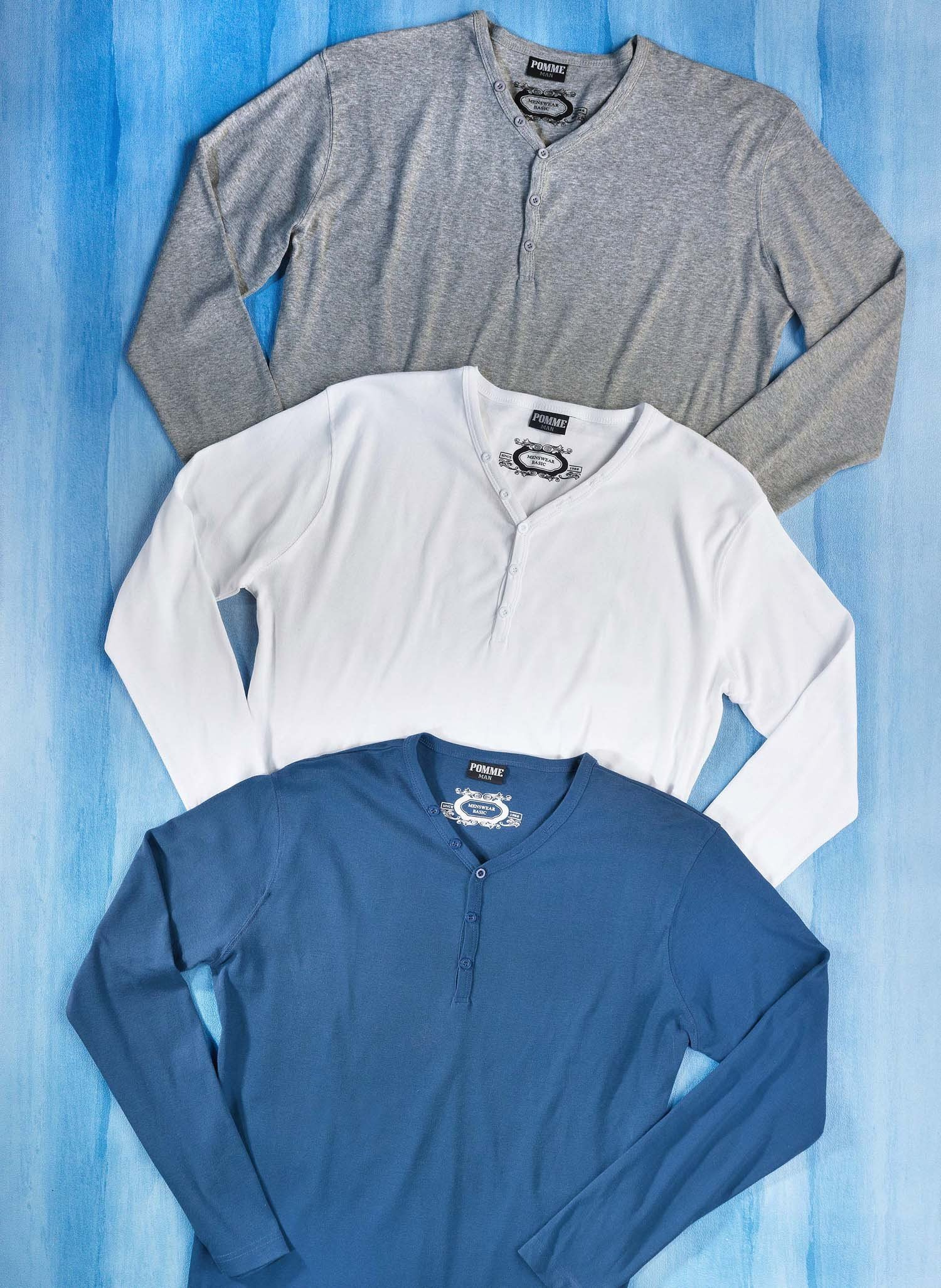 H-LA-Shirt,Knopfleiste grau m. L 004