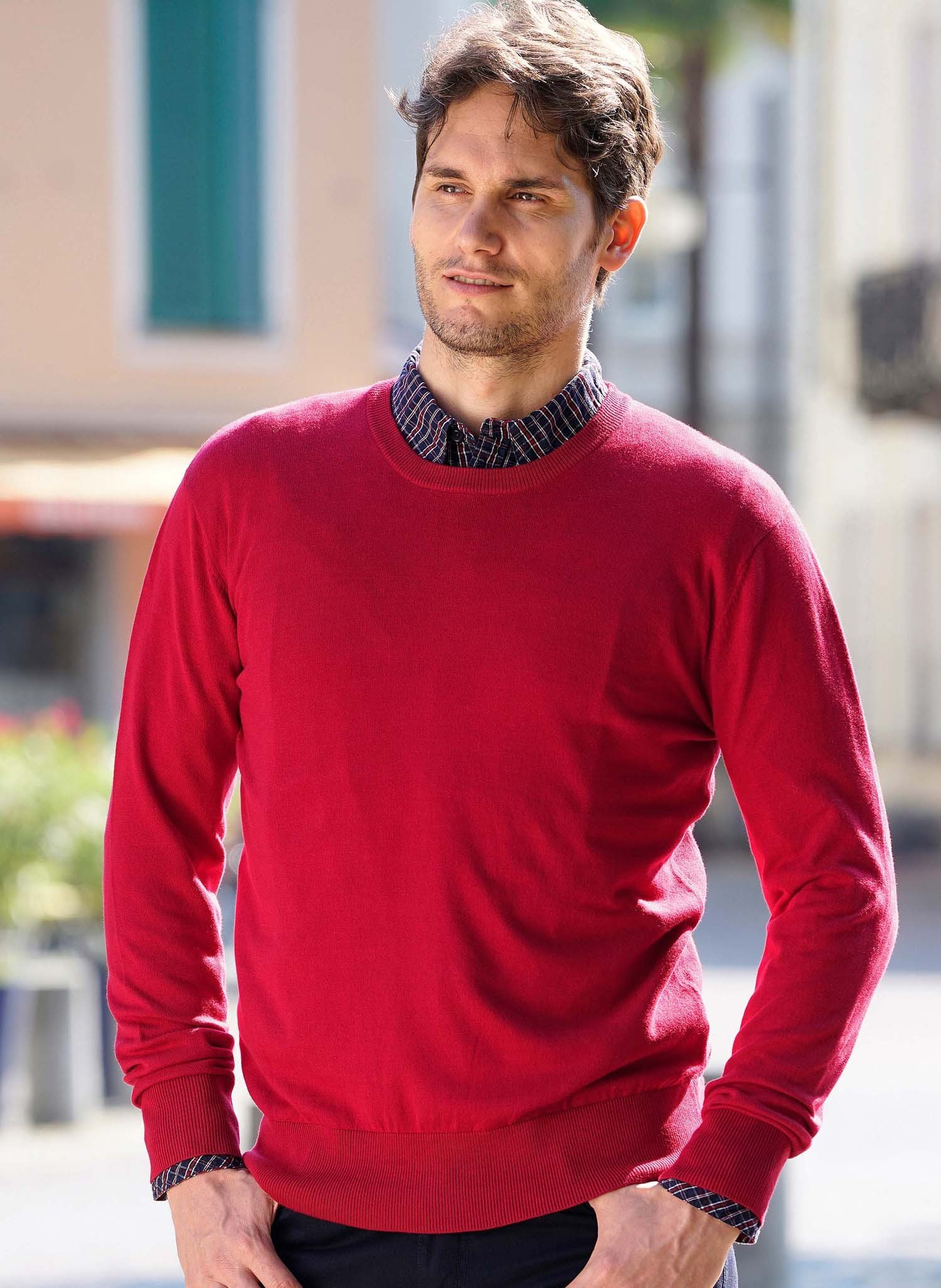 H-LA-Pullover,Rundh.dunkelrot L 335 - 1 - Ronja.ch