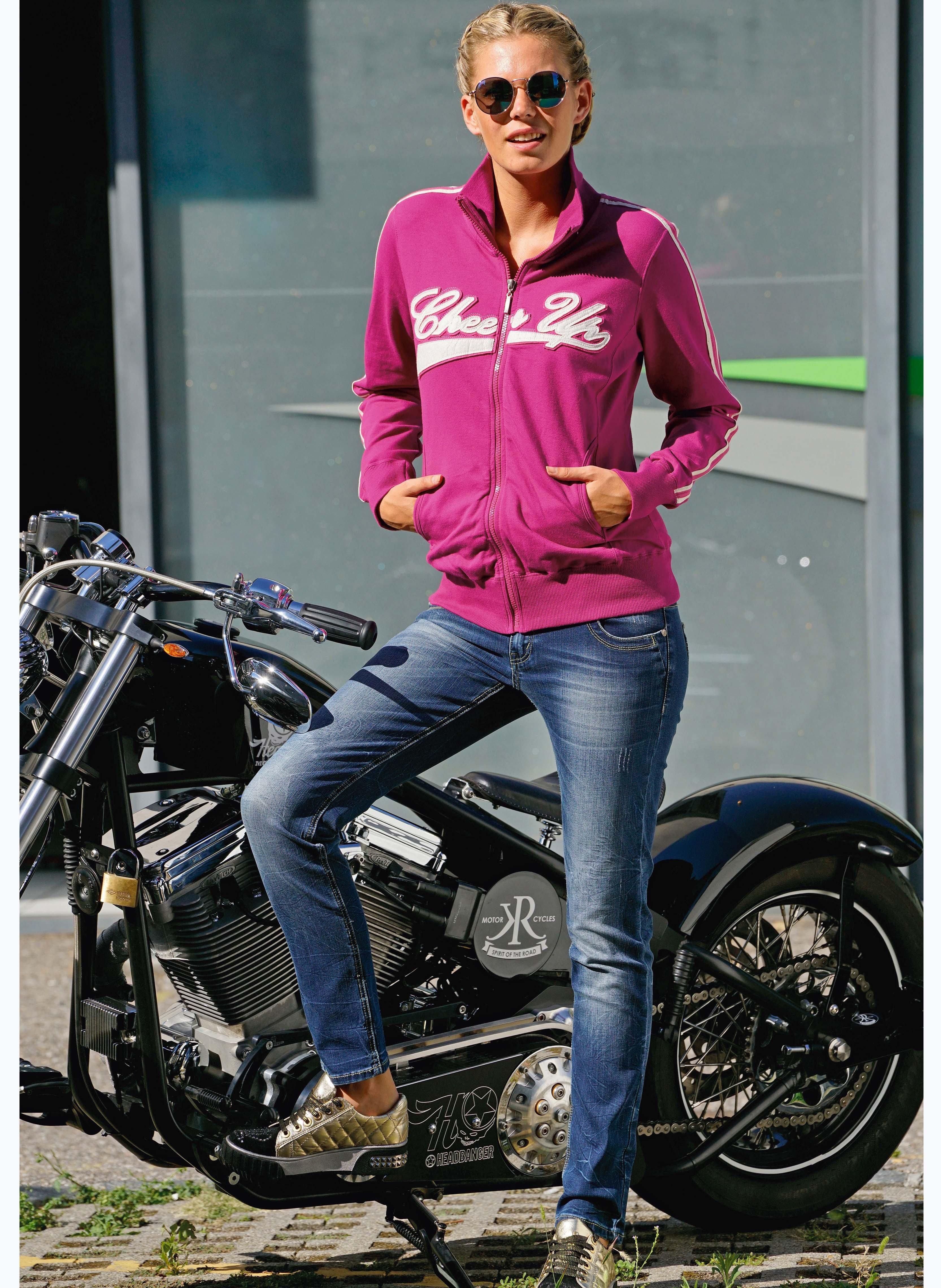 5-Pocket Jeans, Doppelknopf, Stretch-Denim