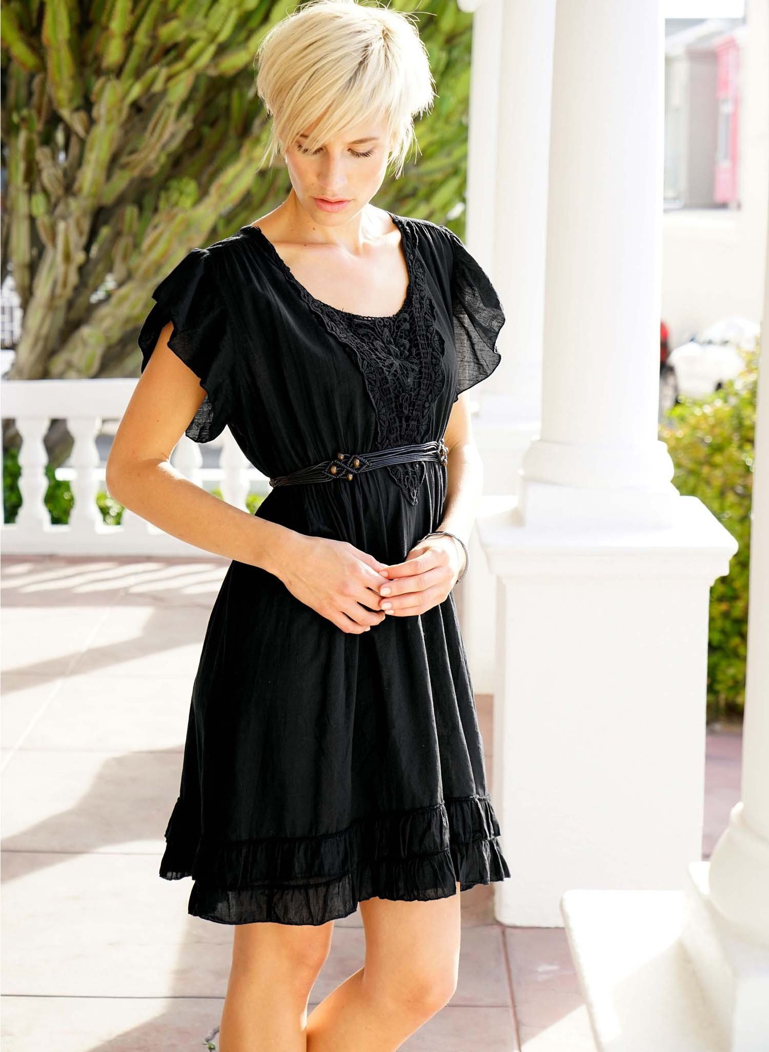 D-Country-Kleid, schwarz L 010 - 2 - Ronja.ch