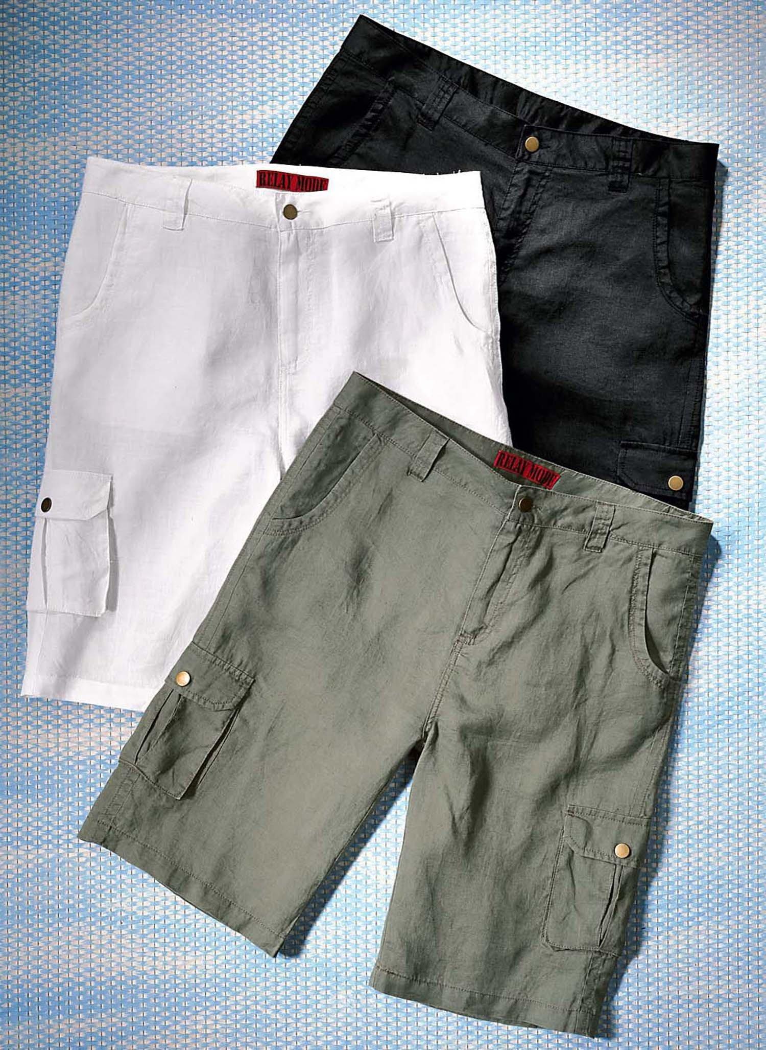 H-Leinen-Shorts olive L 086 - 1 - Ronja.ch