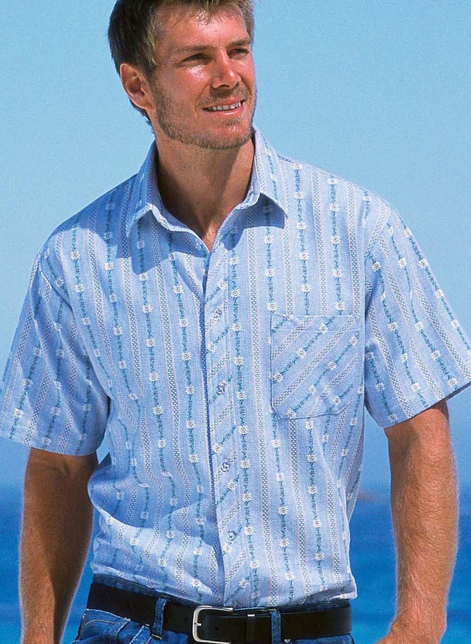 H-KA-Edelweiss Hemd, h.blau 3738 162 - 1 - Ronja.ch