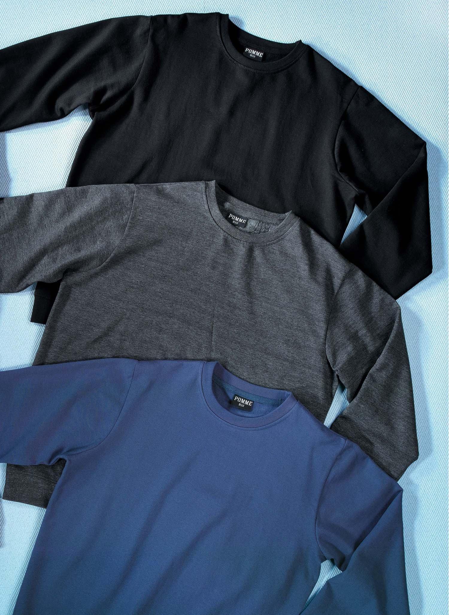 H-LA-Sweat, uni schwarz L 010
