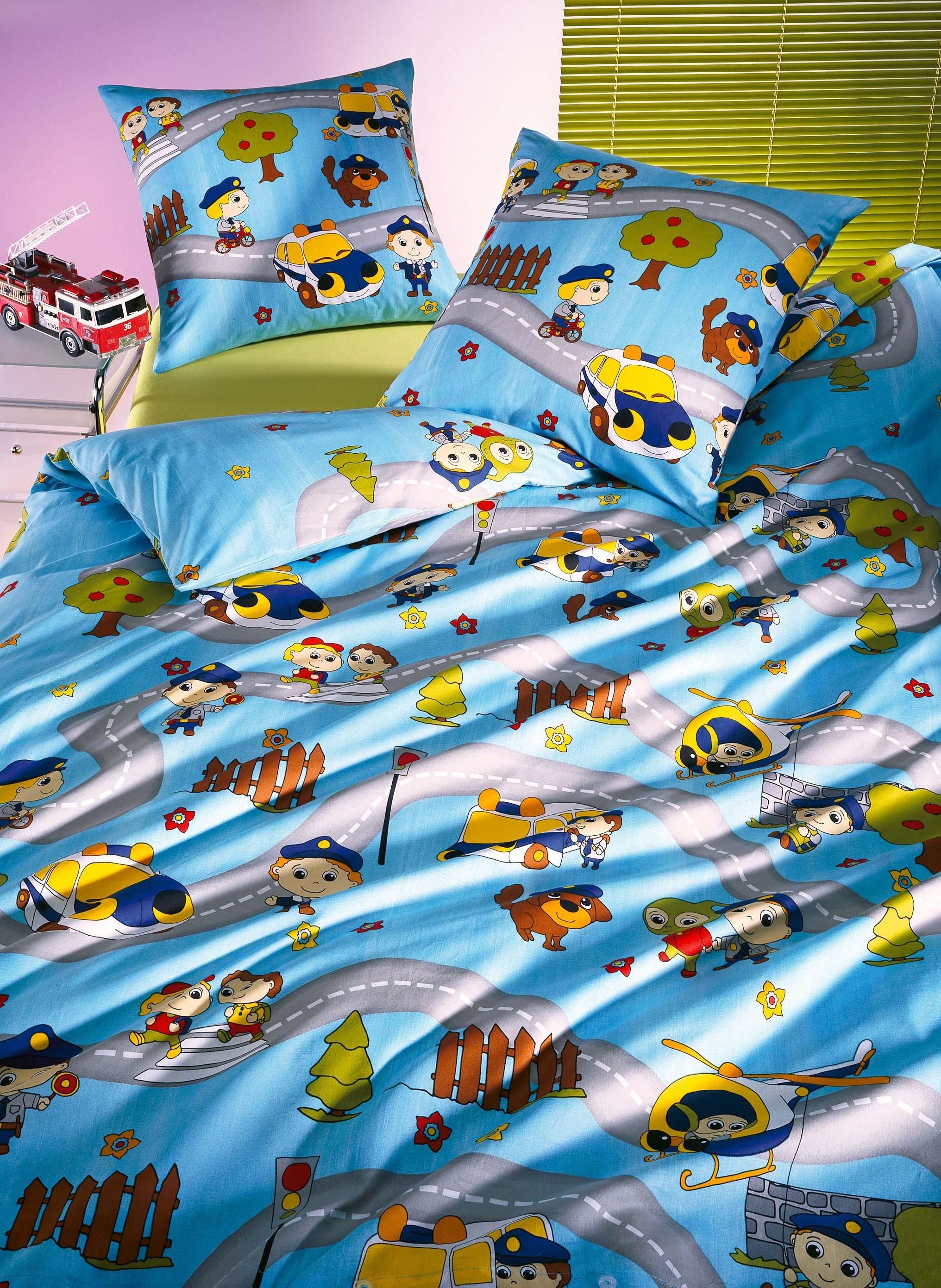 Kinder-Bettwäsche «POLICE»