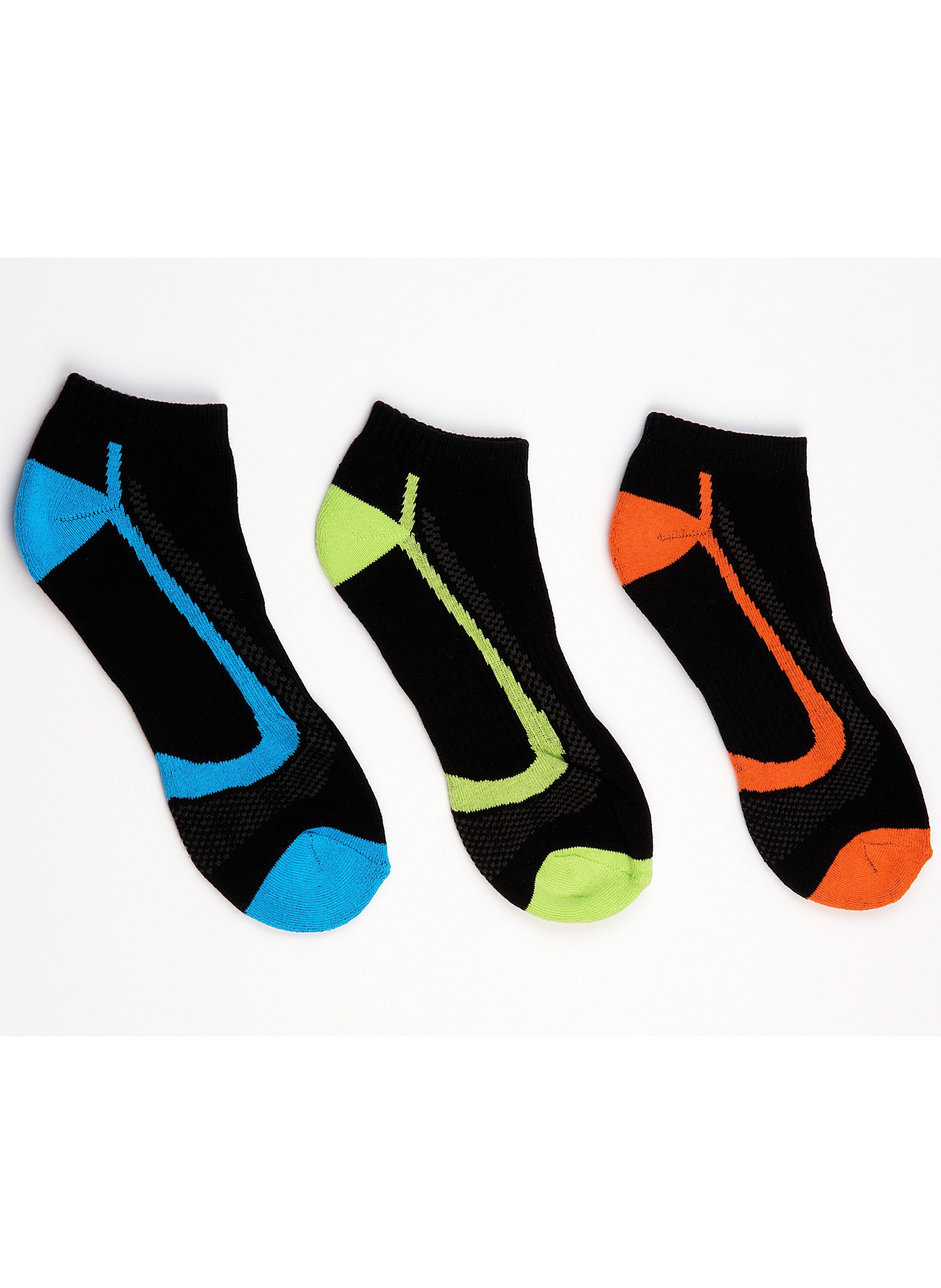 Sport-Sneakers, Zonenverstärkt, 3 Stück