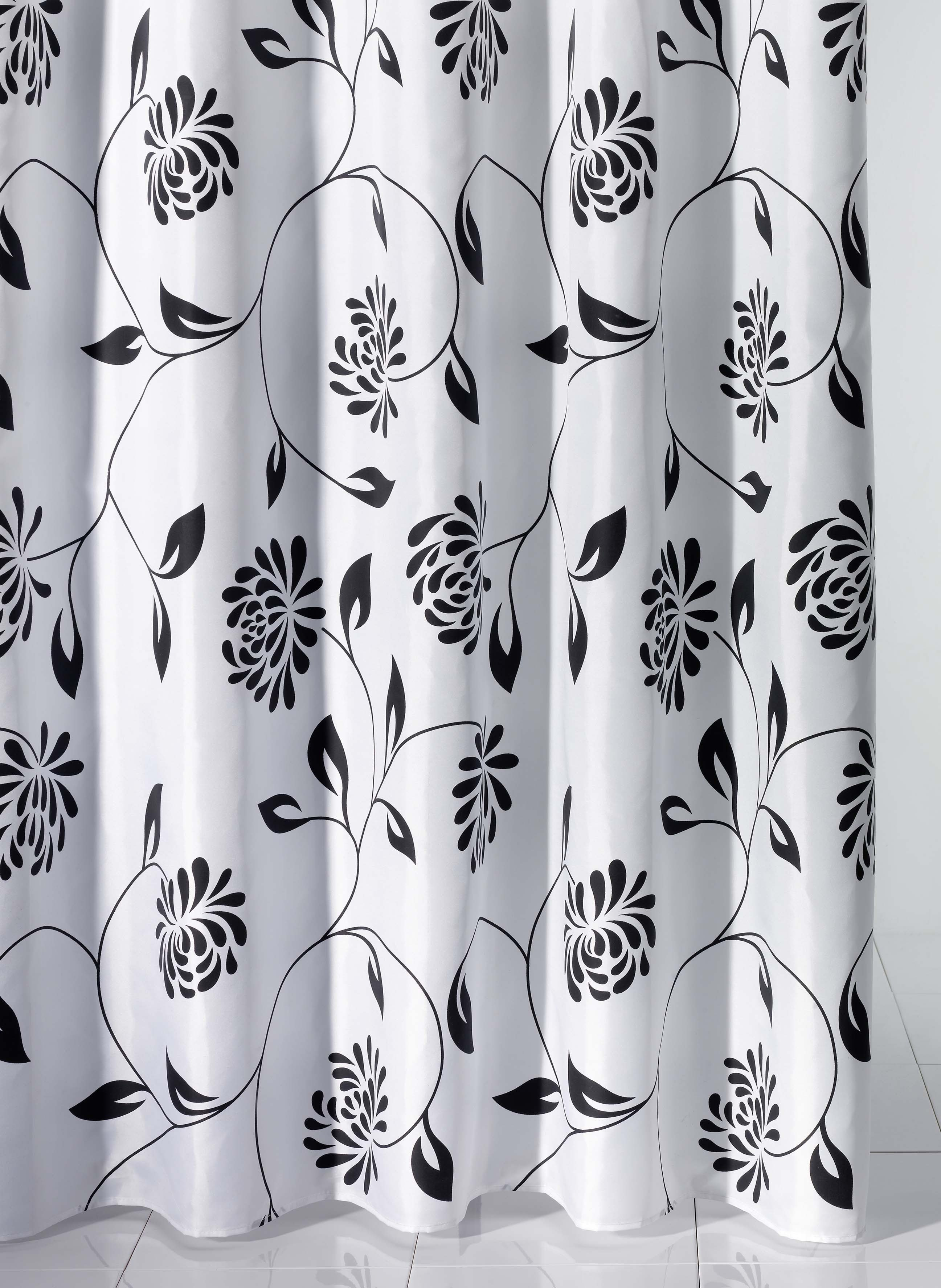 Textil-Duschvorhang,Floral