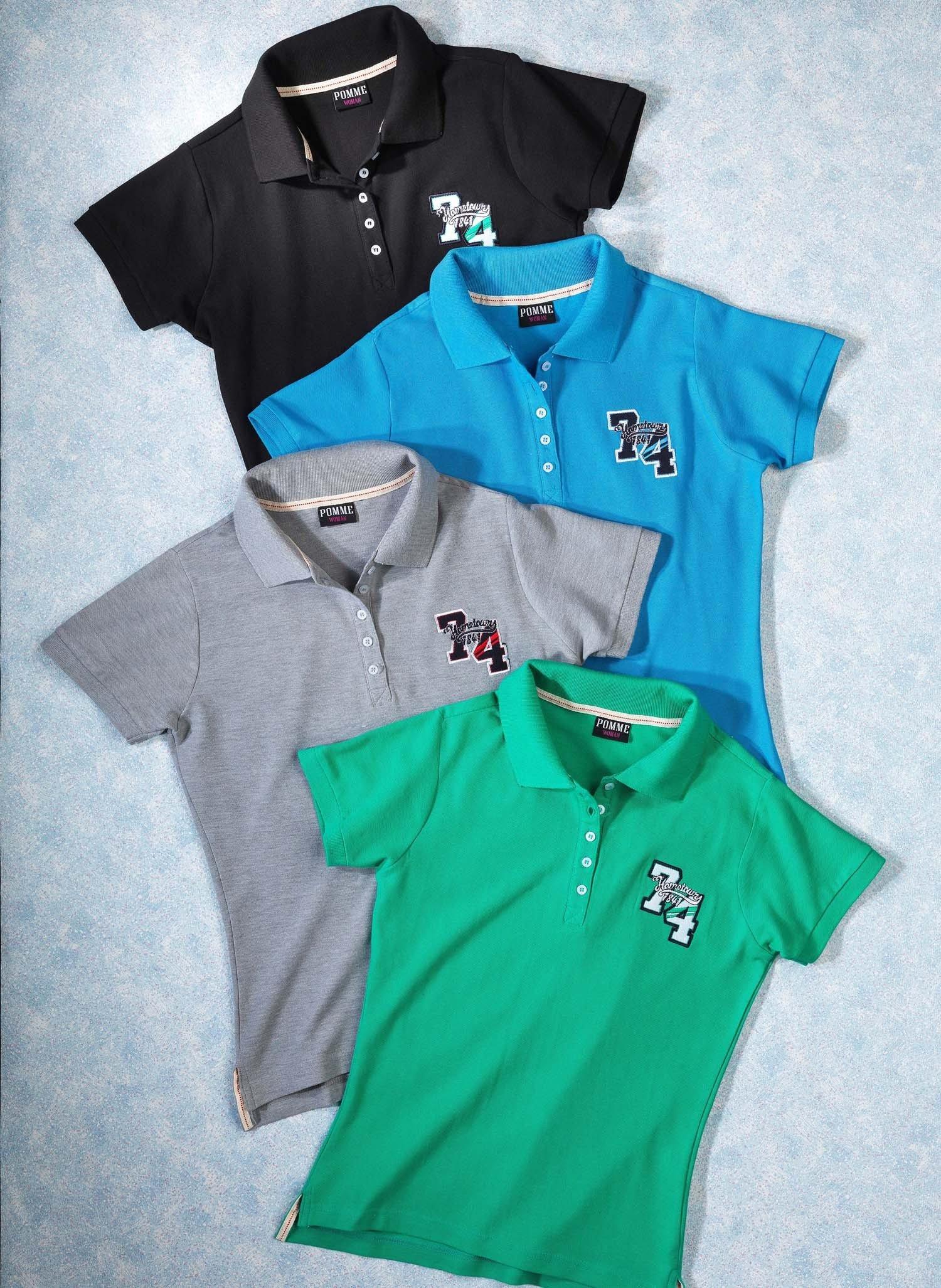 D-KA-Piquet-Polo Shirt grau m. L 004 - 2 - Ronja.ch