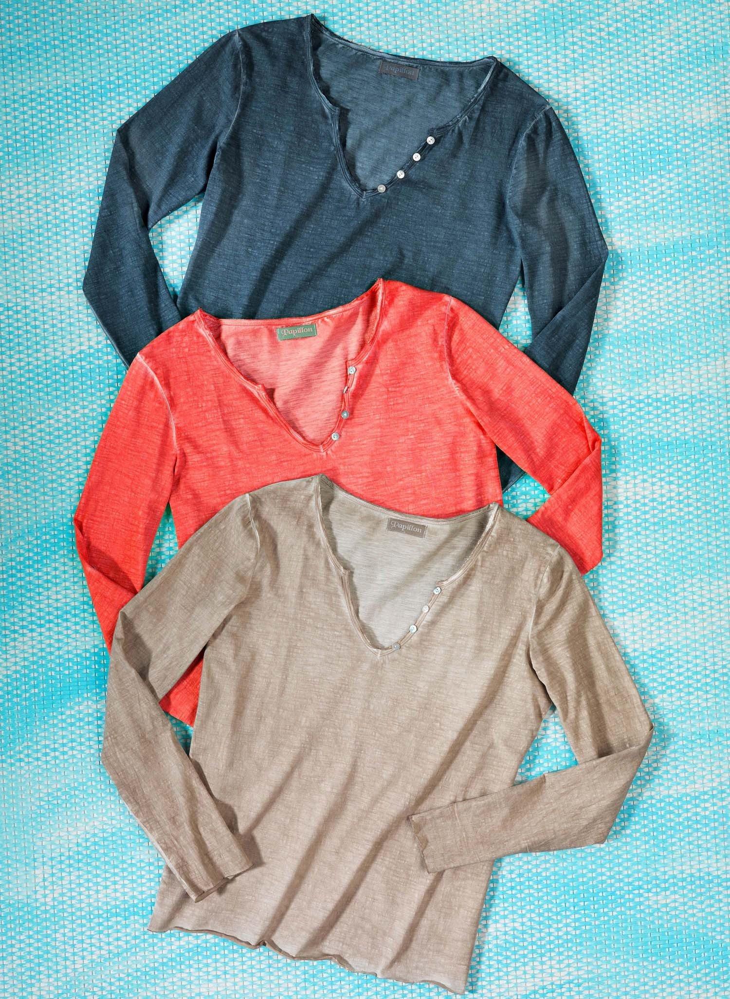 D-LA-Shirt,V-Aussch.coralle L 028 - 1 - Ronja.ch