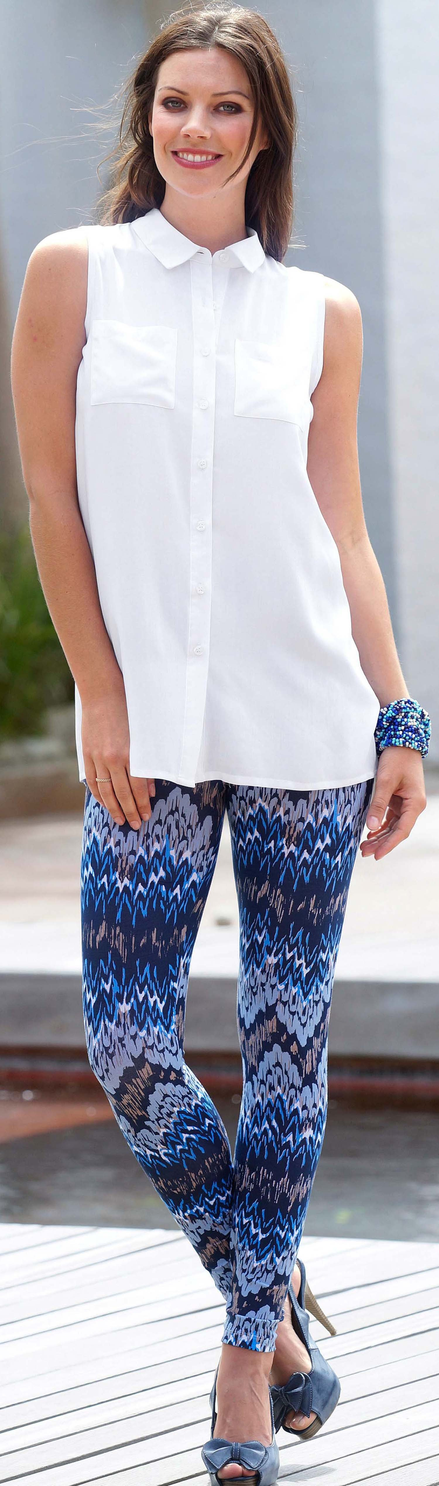 D-Leggings,Colors-Print blau L - 1 - Ronja.ch