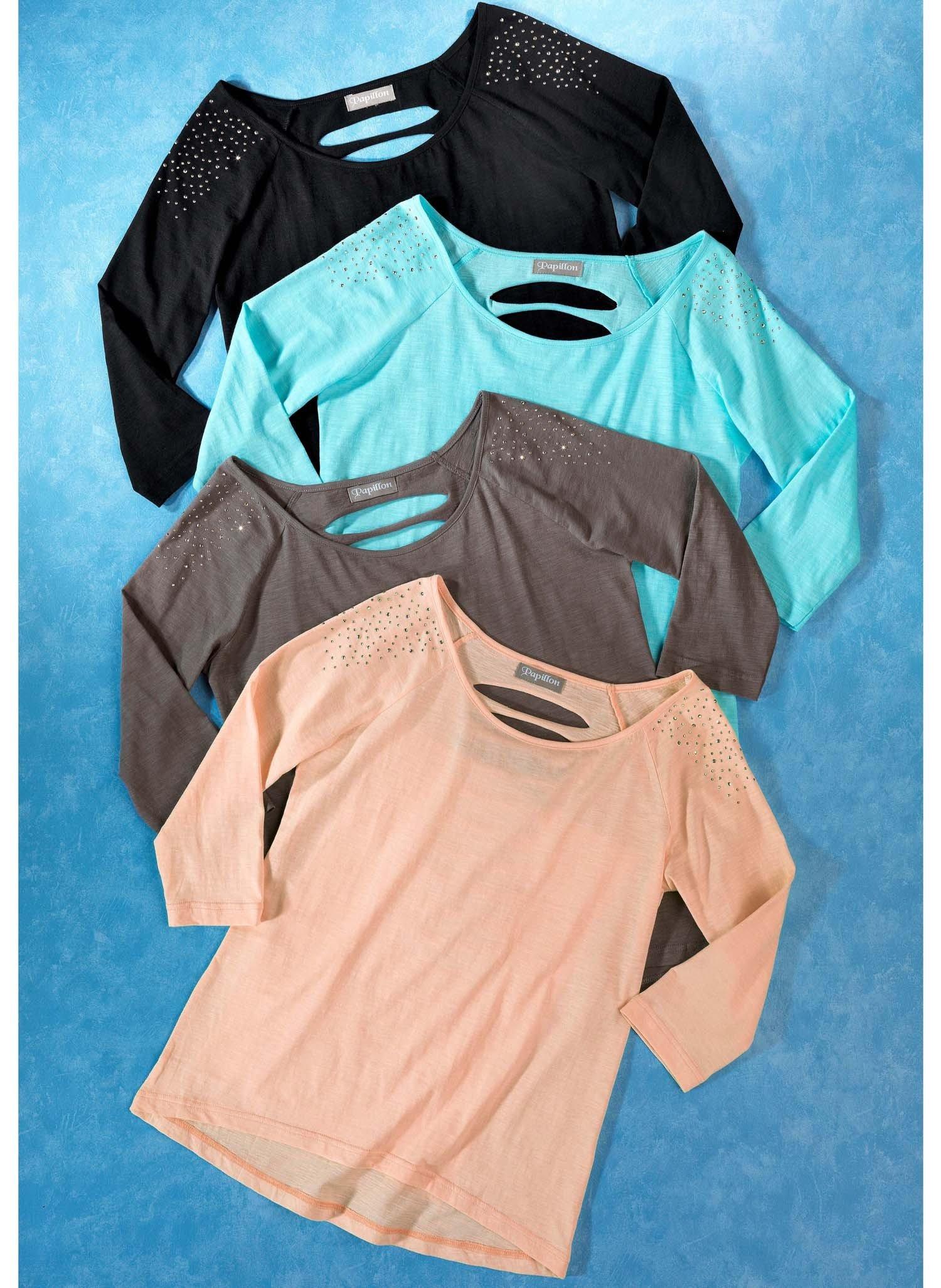 D-3/4-Ar.Shirt,geschlitzt apr. S 037 - 1 - Ronja.ch
