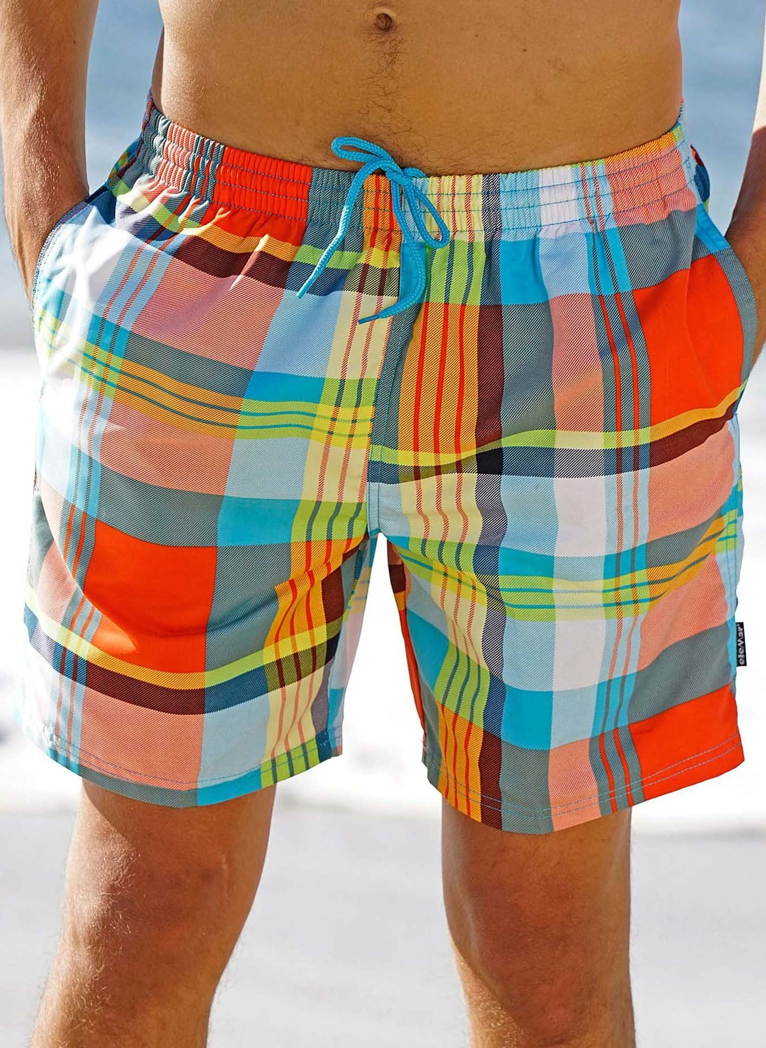 "H-Bade-Shorts,""NEON""Multicolor L 058 - 1 - Ronja.ch"