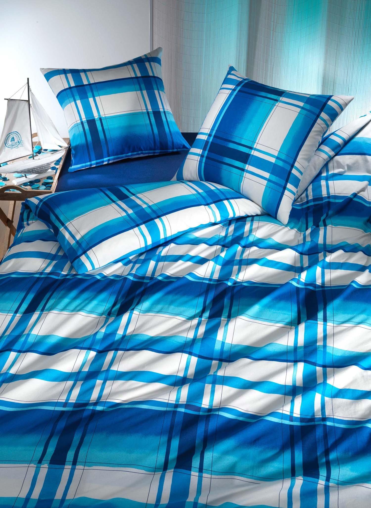 """J-Kissen""""QUADRO""""65x65cm w/blau - 1 - Ronja.ch"""
