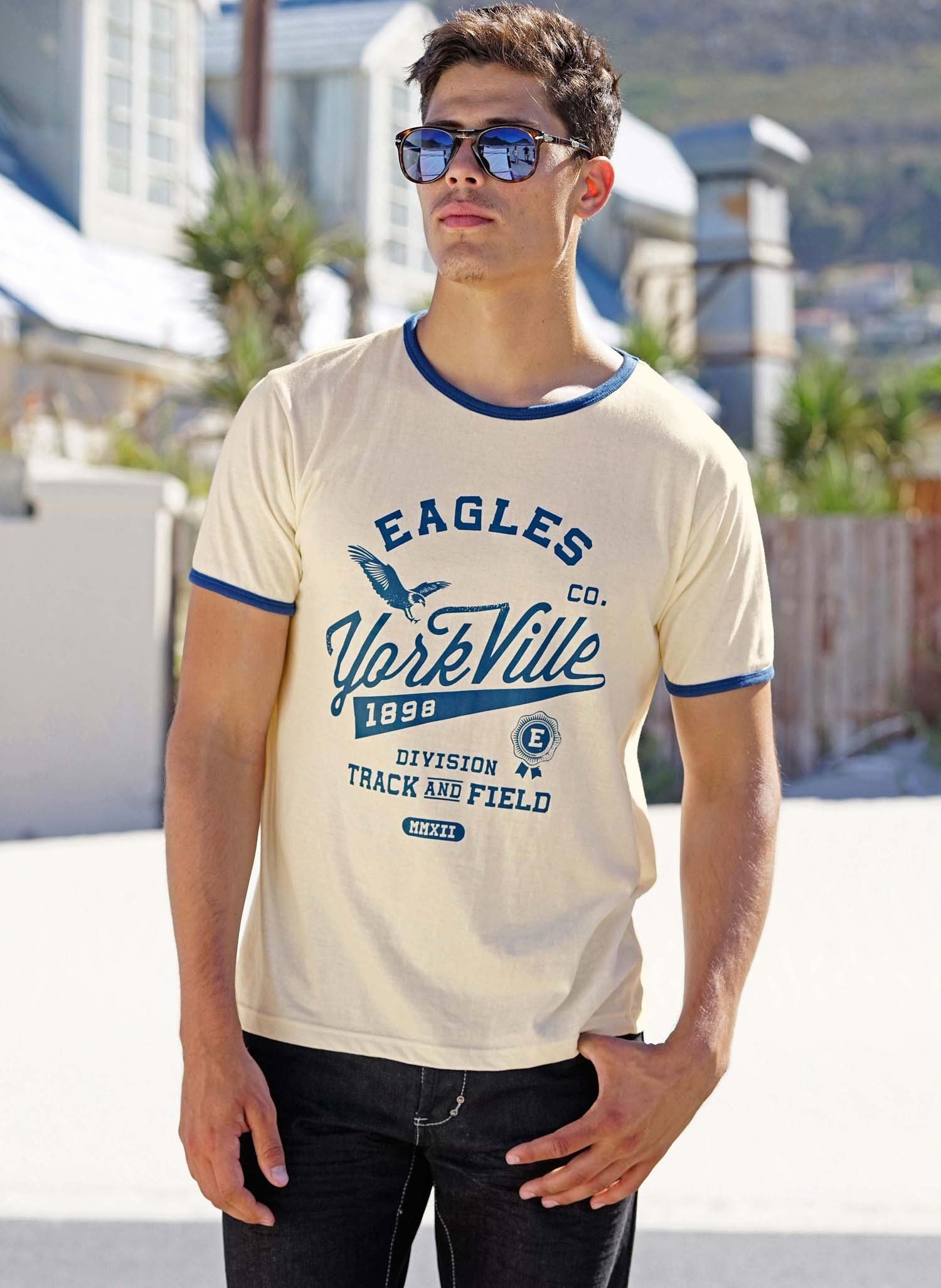 "H-KA-Shirt""EAGLES"" écru S 009 - 1 - Ronja.ch"