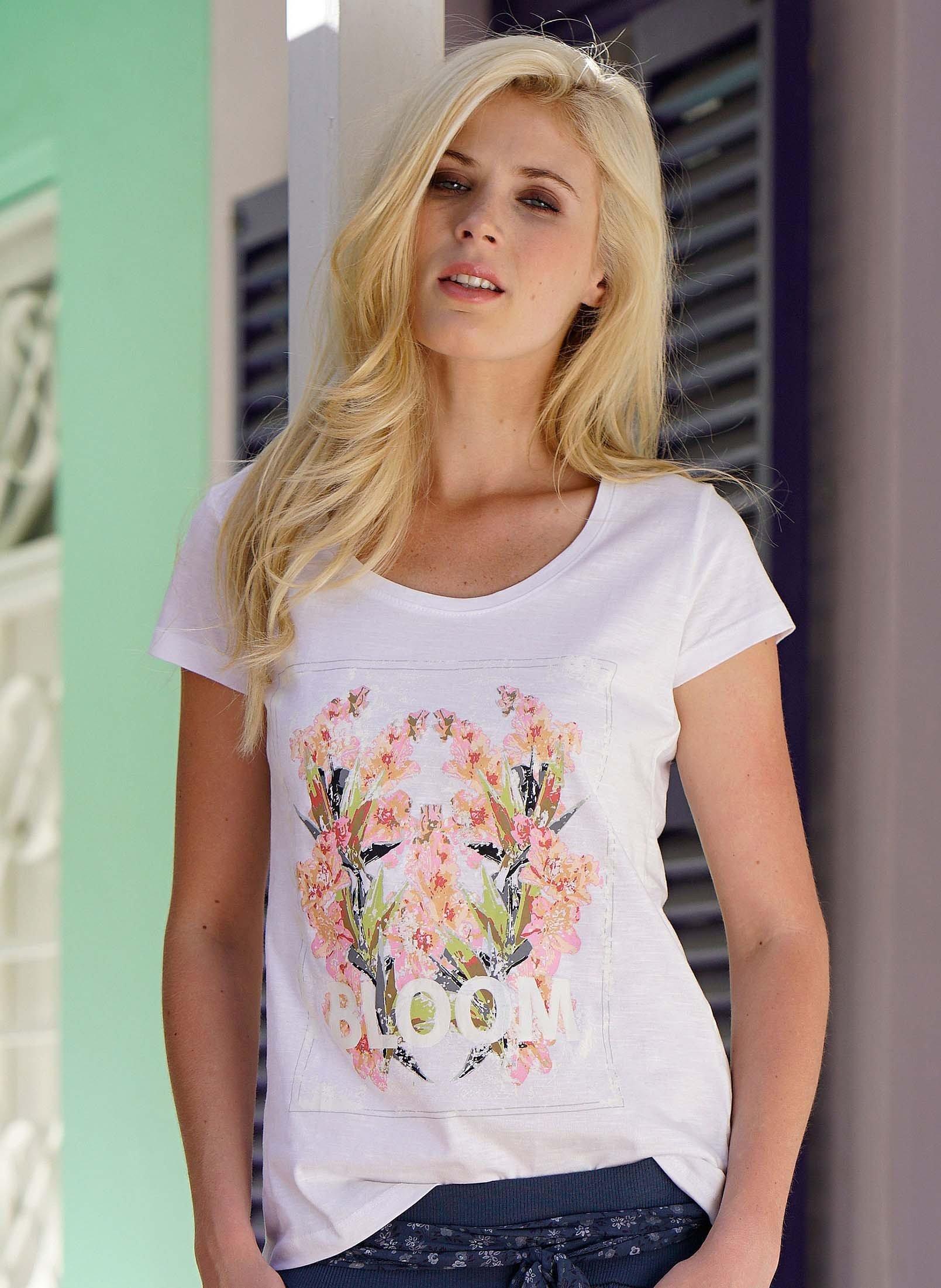 Kurzarm-Shirt,Foto-Print