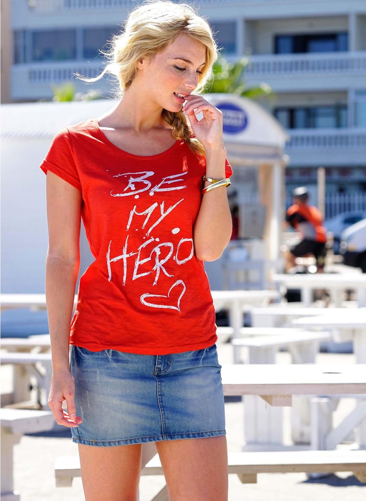 D-KA-Shirt,Herz-Print rot L 023 - 1 - Ronja.ch