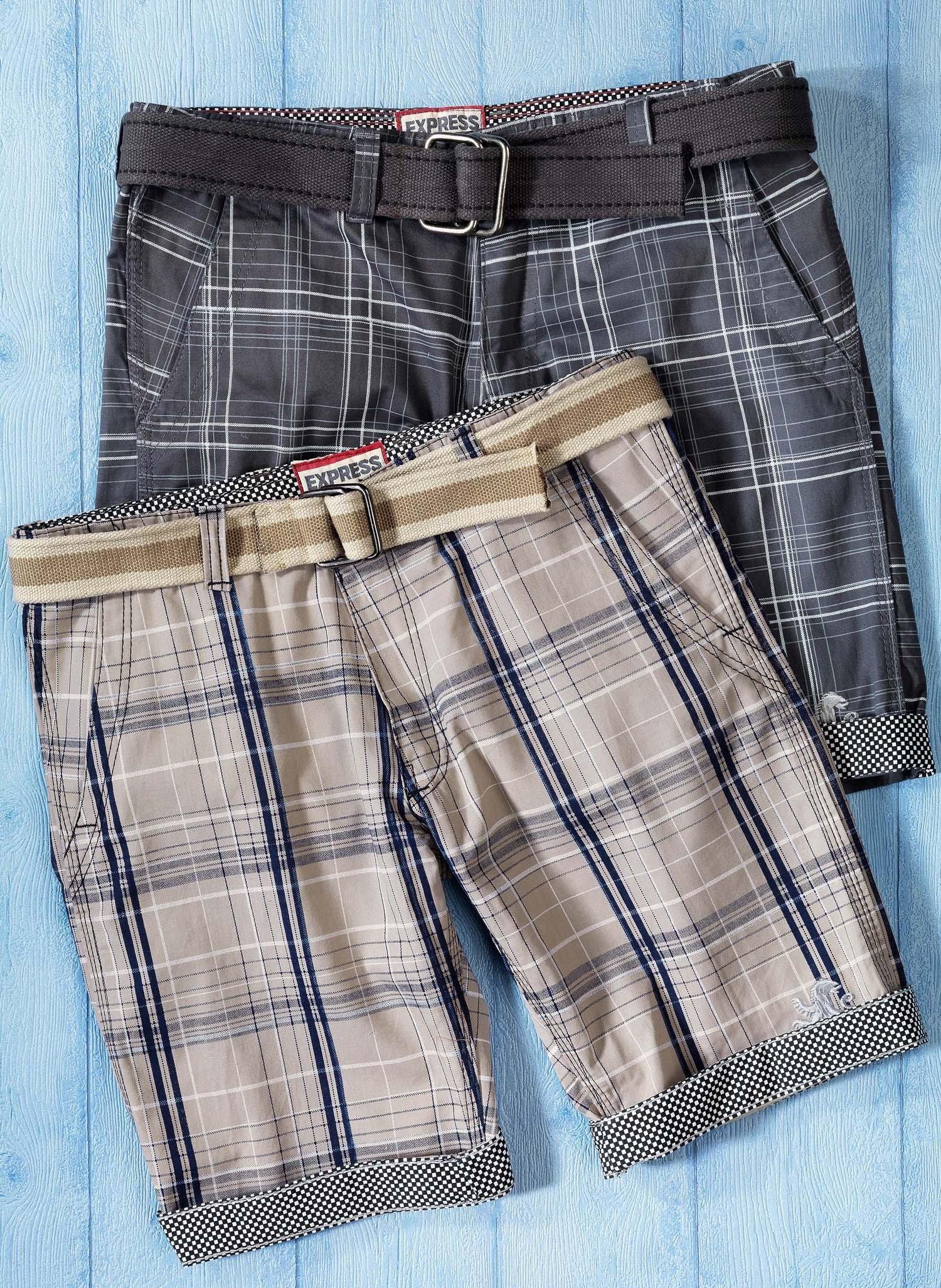 H-Bermuda-Shorts,Karo anthraz. 38 013 - 2 - Ronja.ch