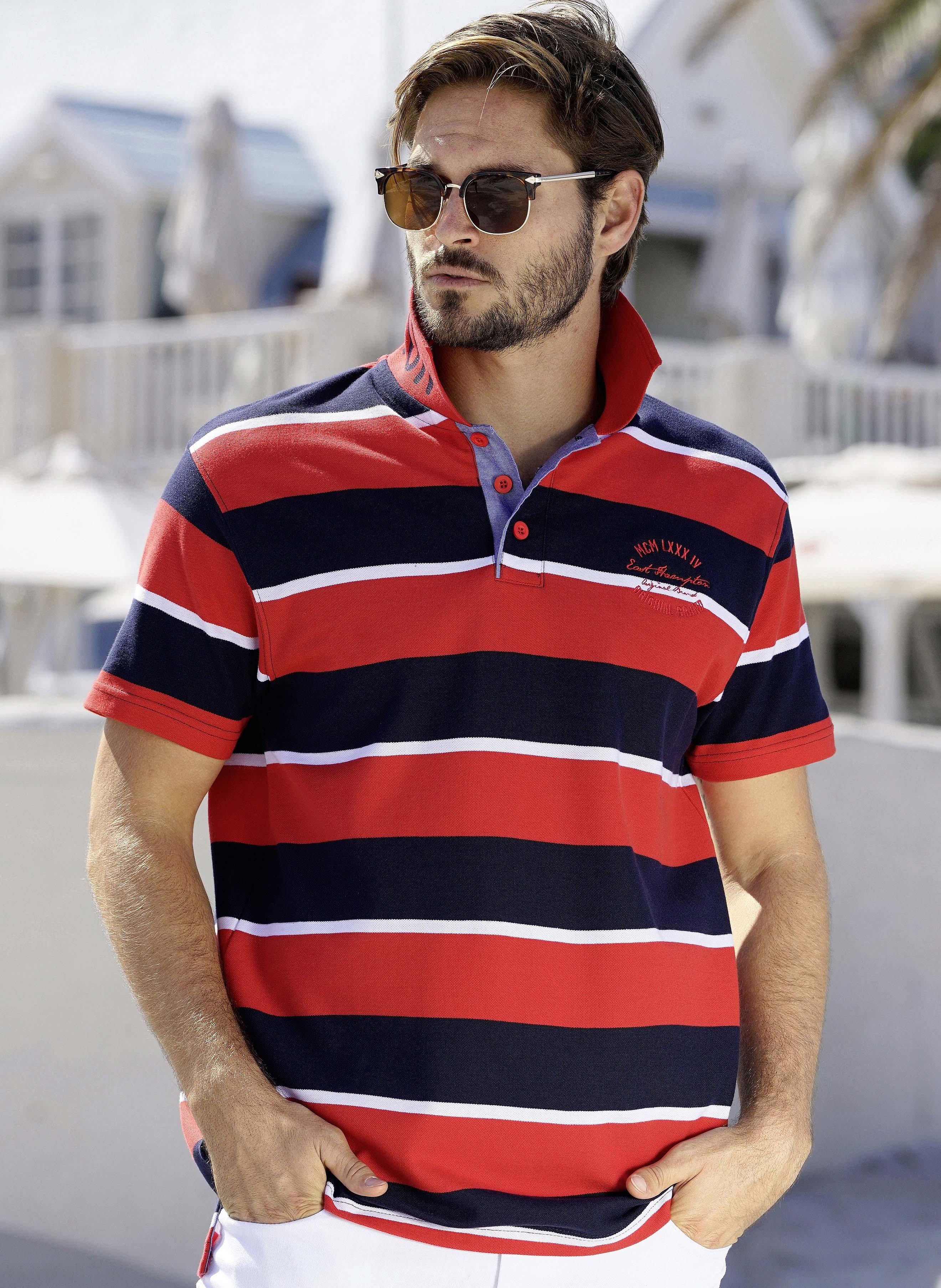 Kurzarm-Polo-Shirt Streifen
