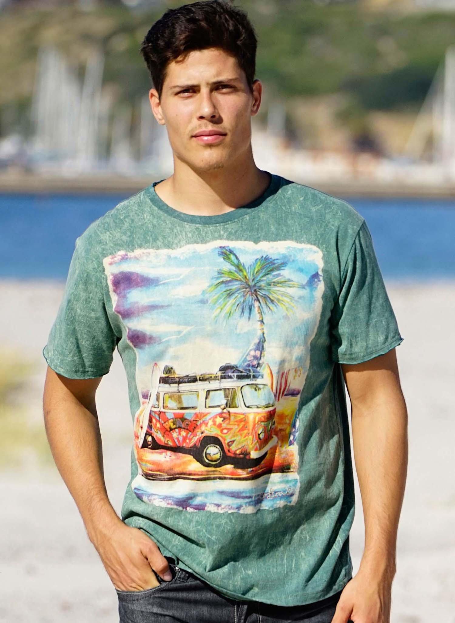 H-KA-Shirt,VW-Bus grün L 059 - 1 - Ronja.ch