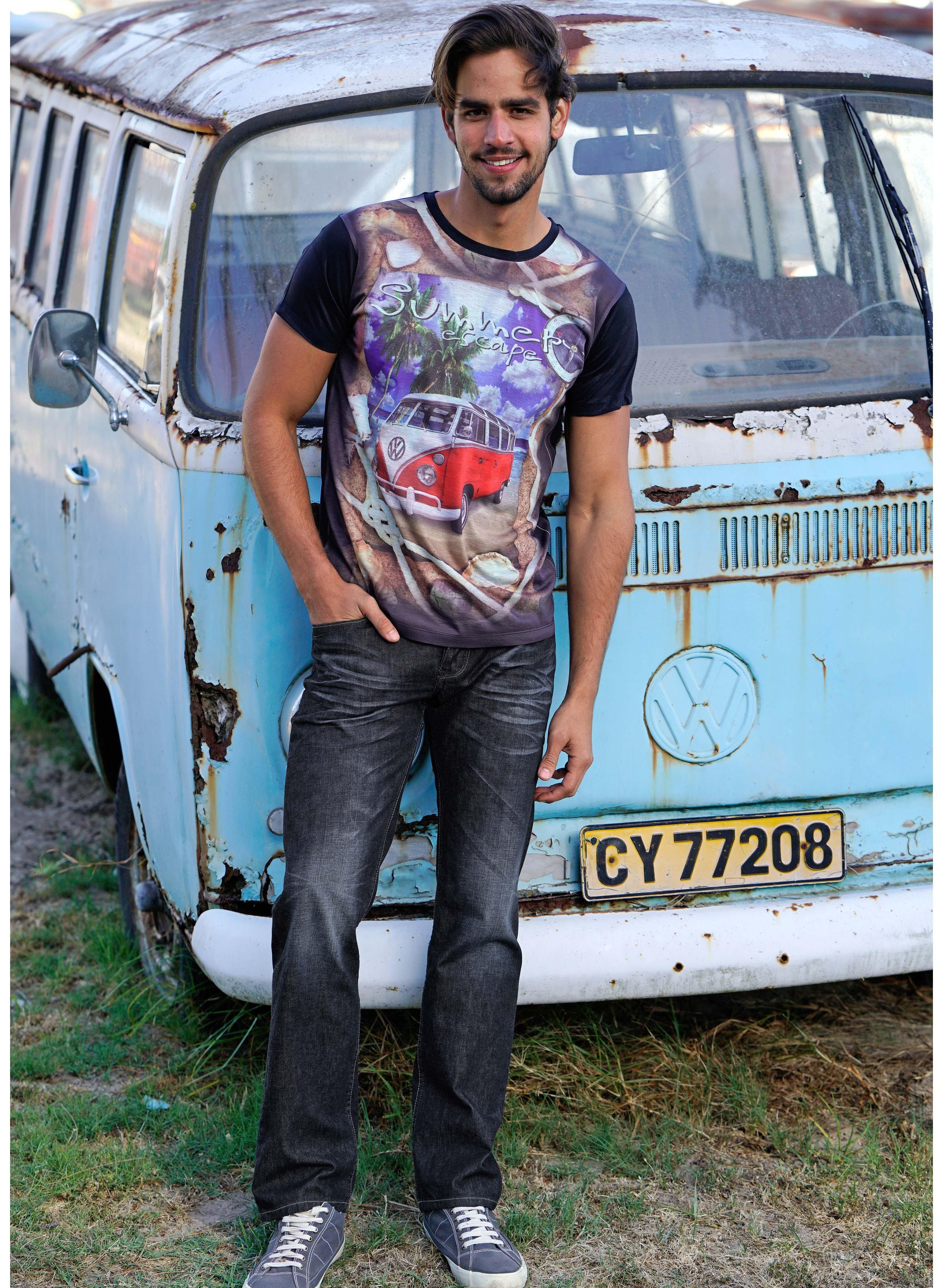 Herren-5Pocket-Jeans,Sitzfalten Dark-Blue