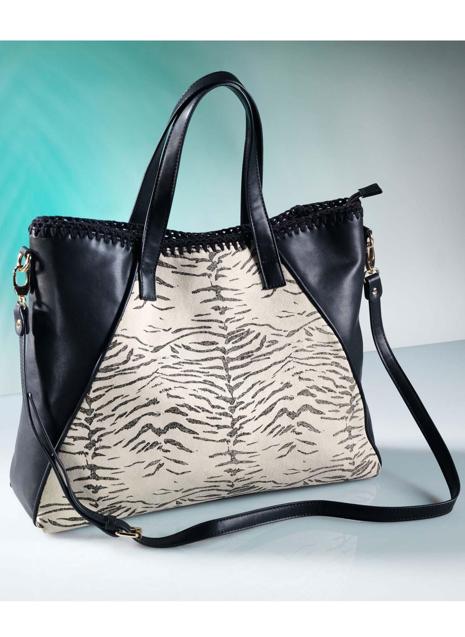 D-Handtasche,Animal,schw/natur