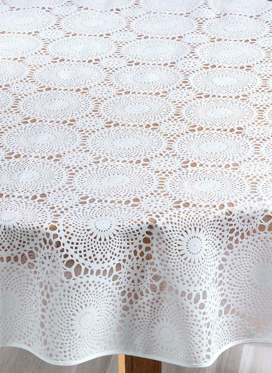 Spitzen-Tischd.weiss 140x180cm