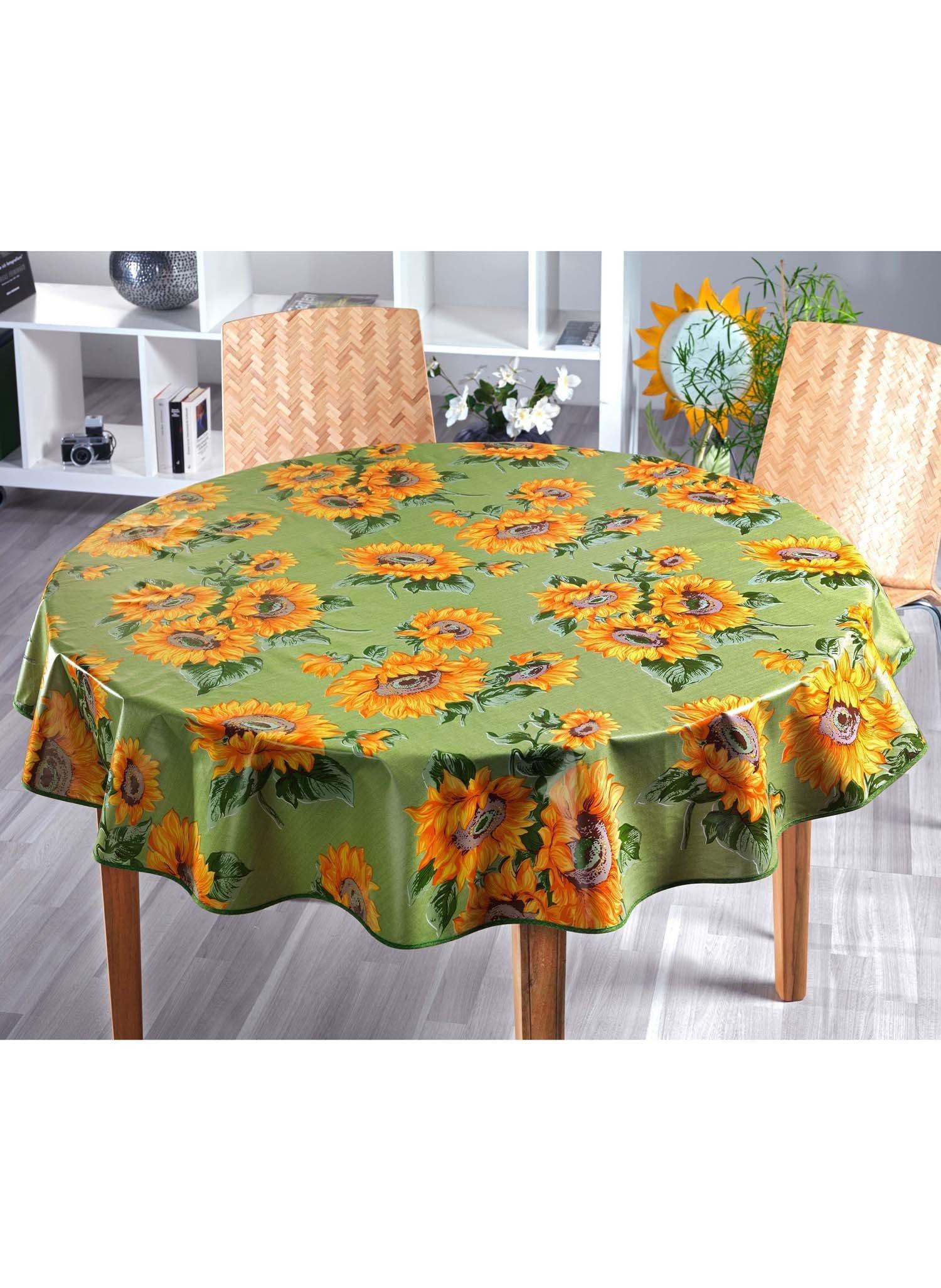 Tisch.Sonnenblume.grün 160cm - 1 - Ronja.ch