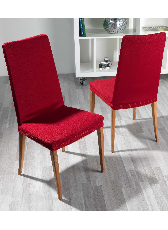 Schonbezug,Stühle bordeaux 2St